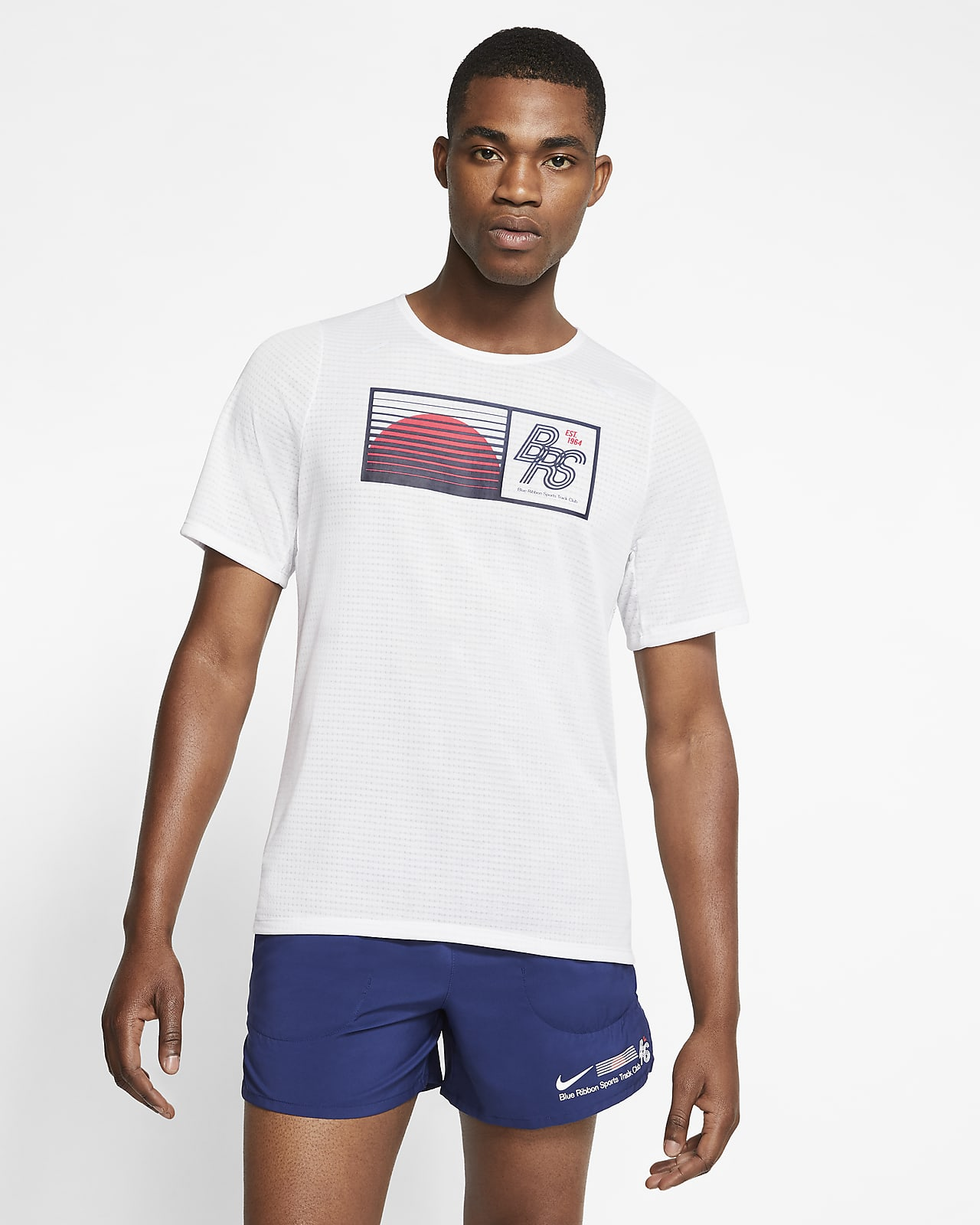 Haut de Running Nike Rise 365 Blue Ribbon Sports pour Homme