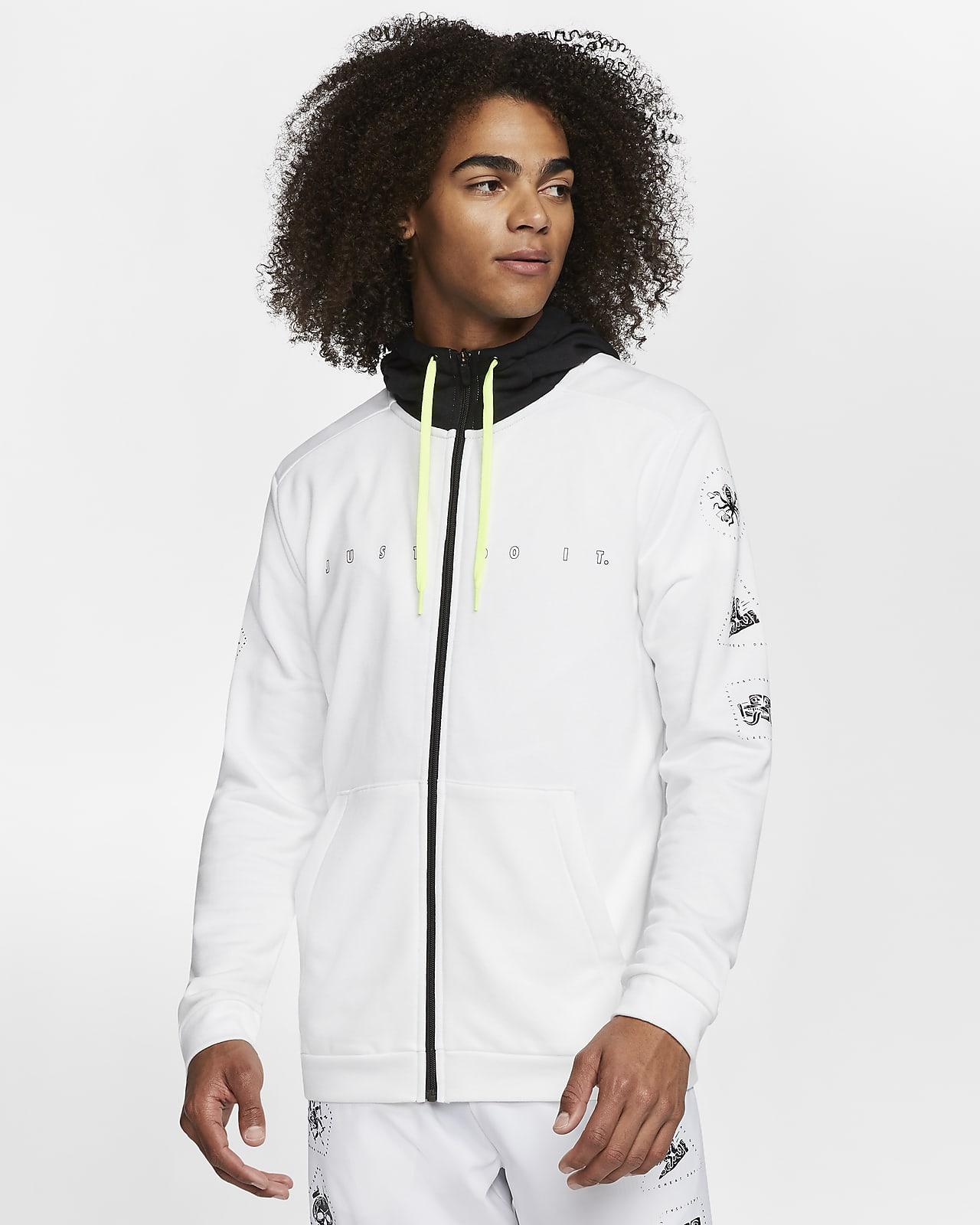 Sweat à capuche et zip de training en tissu Fleece Nike Dri-FIT pour Homme