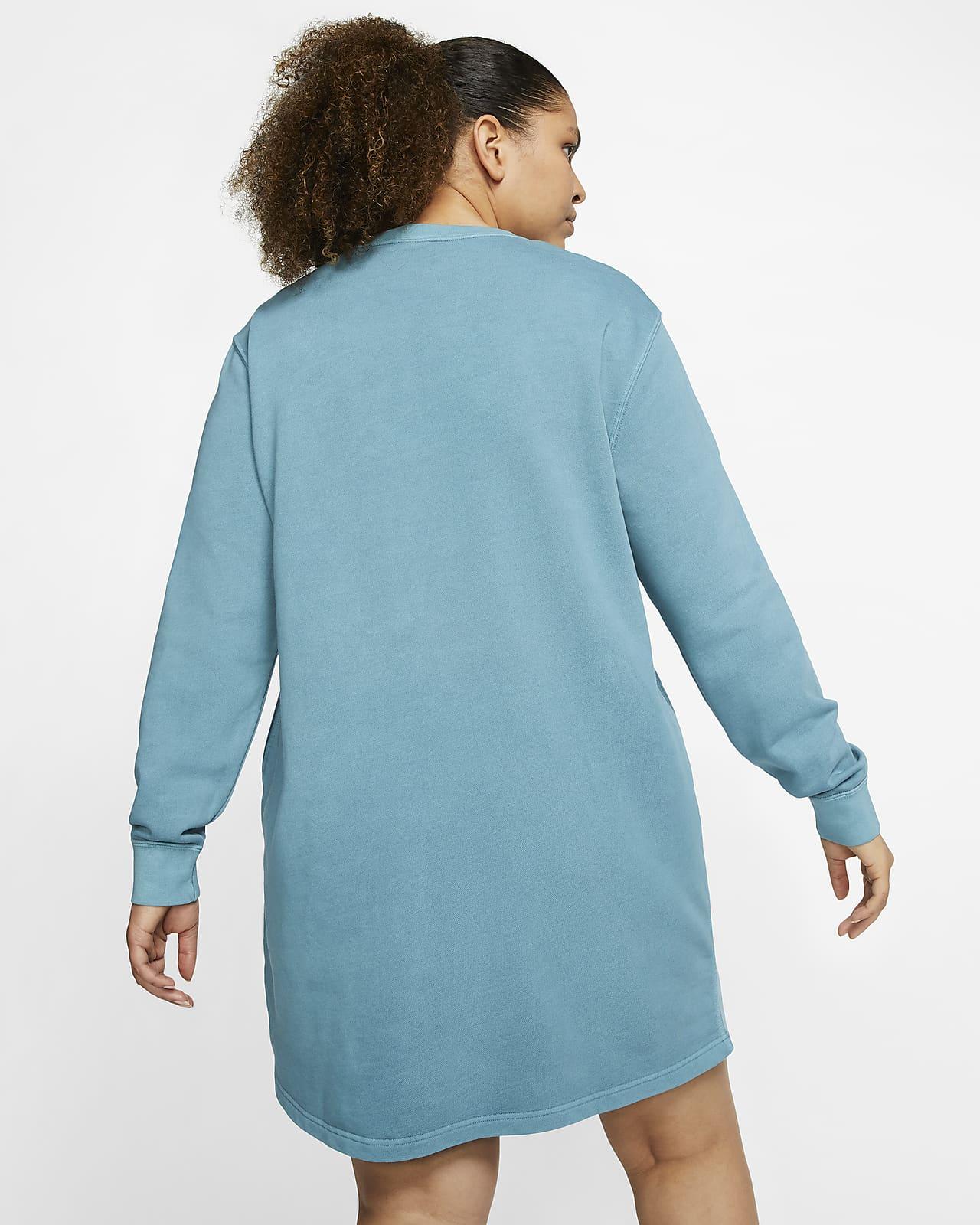 Klänning i frotté Nike Sportswear för kvinnor (Plus Size