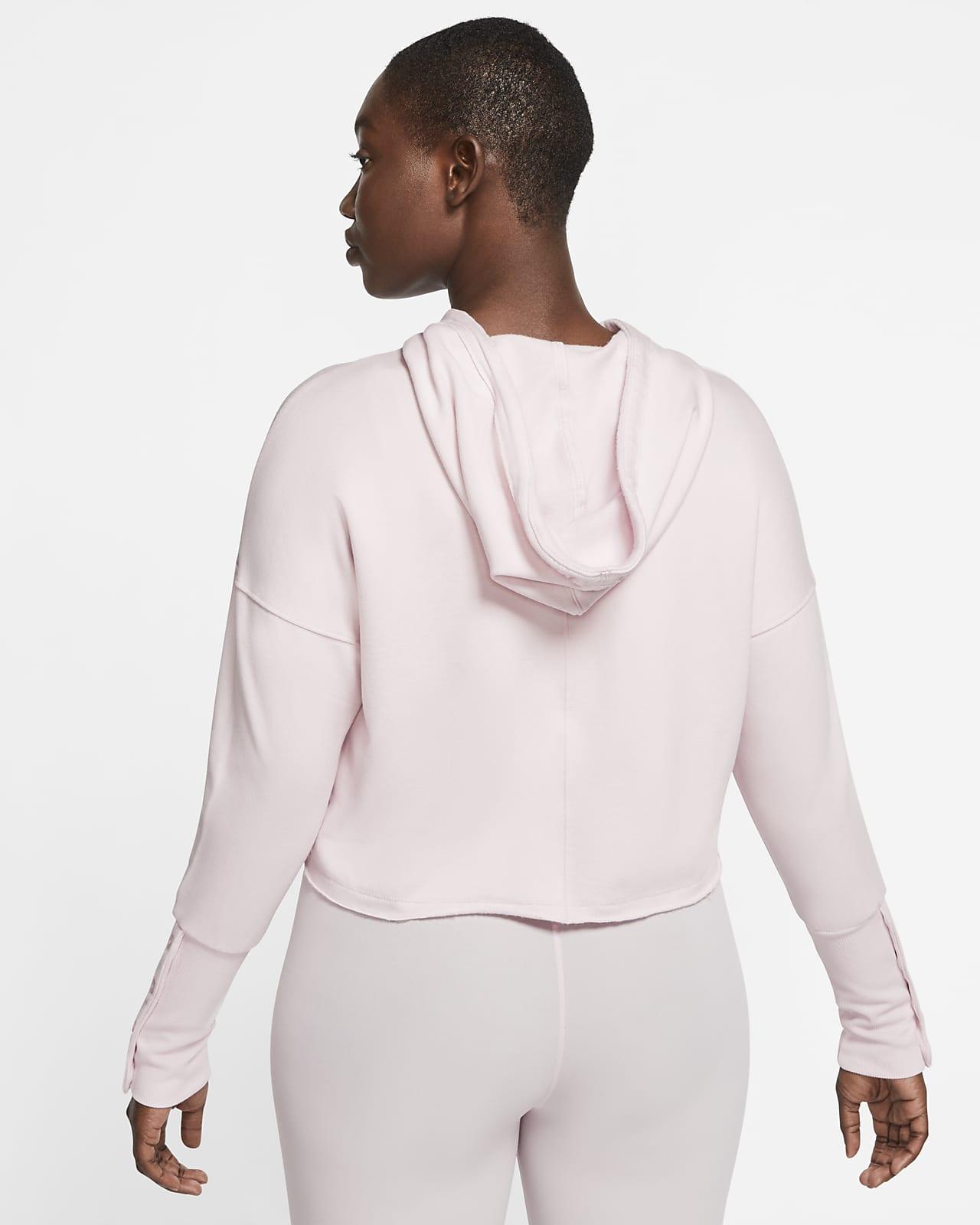 Sweat à capuche court Nike Yoga Luxe pour Femme