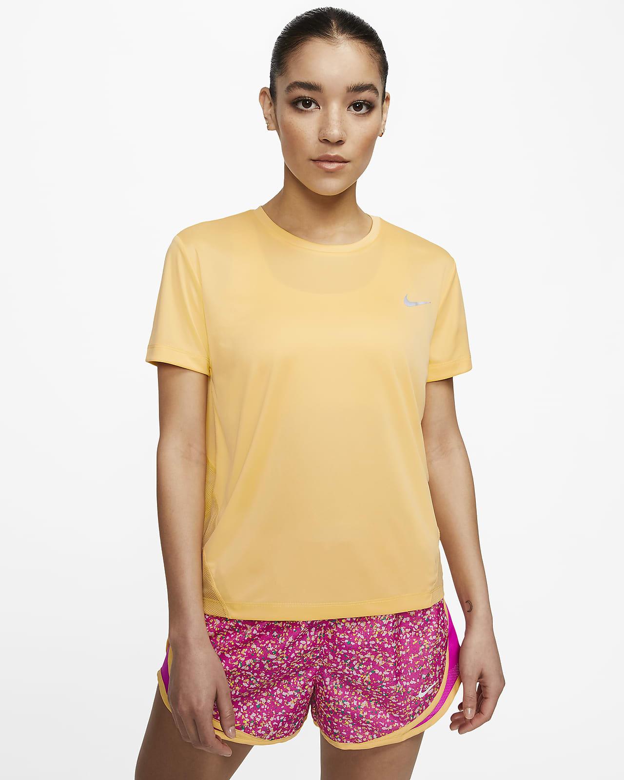 Haut de running à manches courtes Nike Miler pour Femme