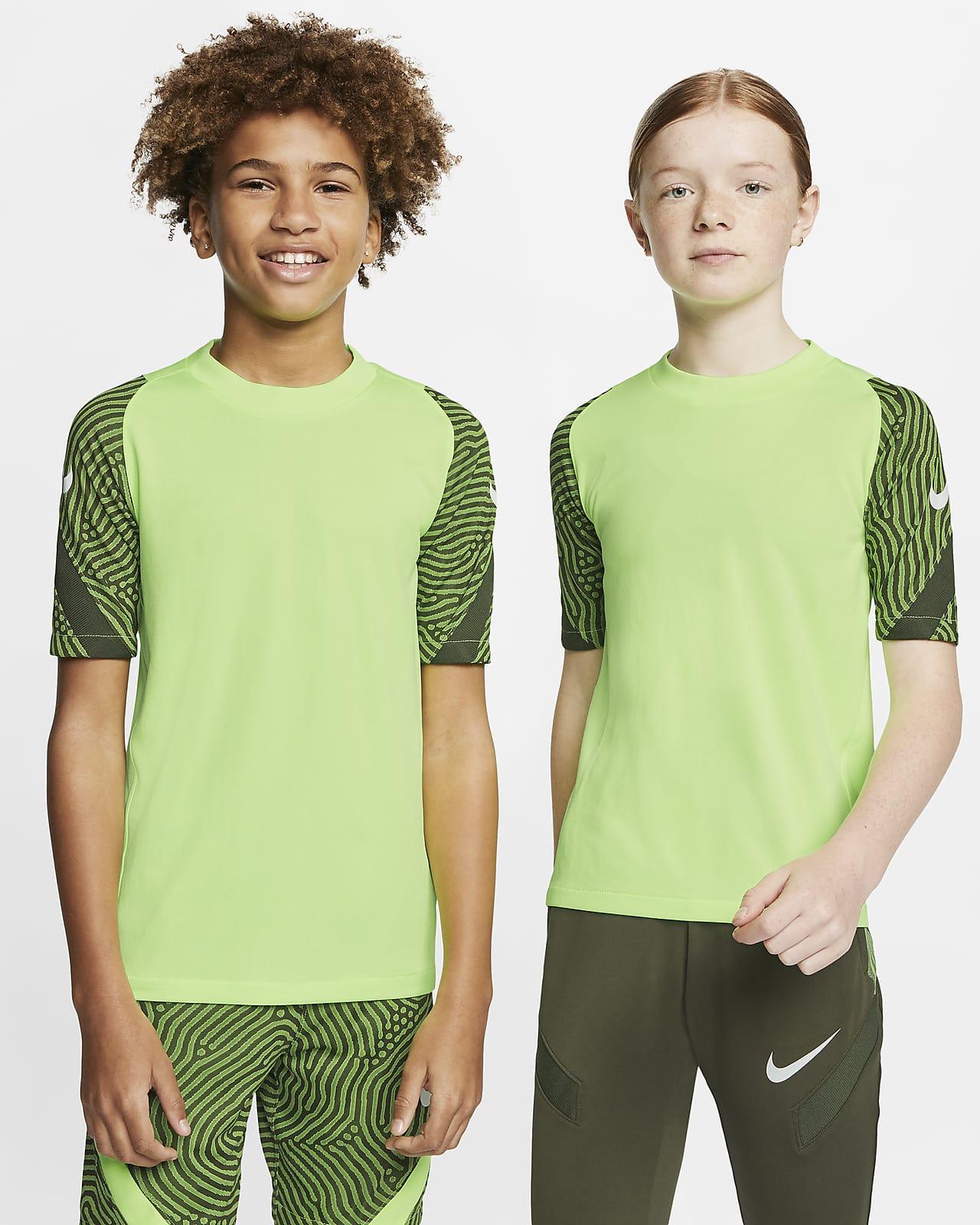 Nike Breathe Strike Kurzarm-Fußballoberteil für ältere Kinder