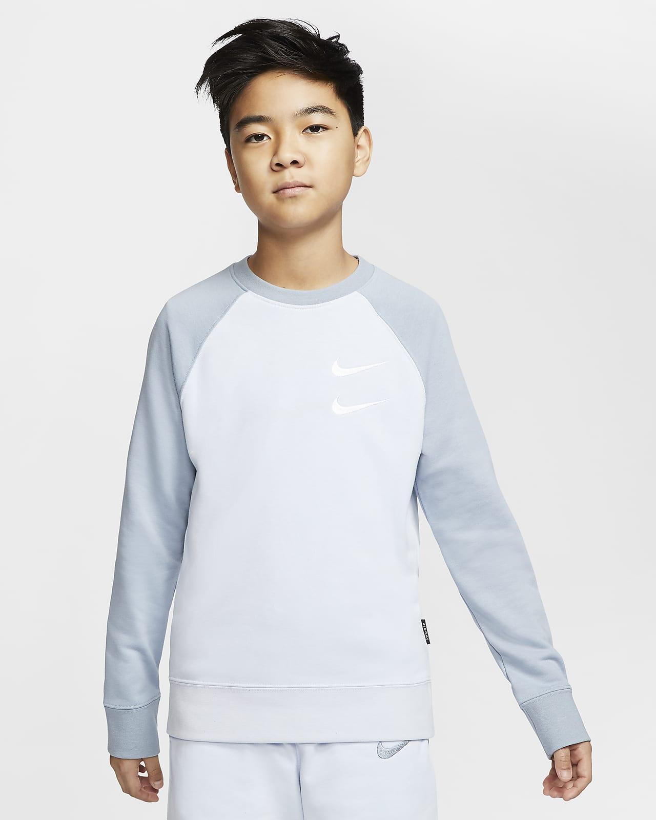 Nike Sportswear Swoosh Older Kids' (Boys') French Terry Crew