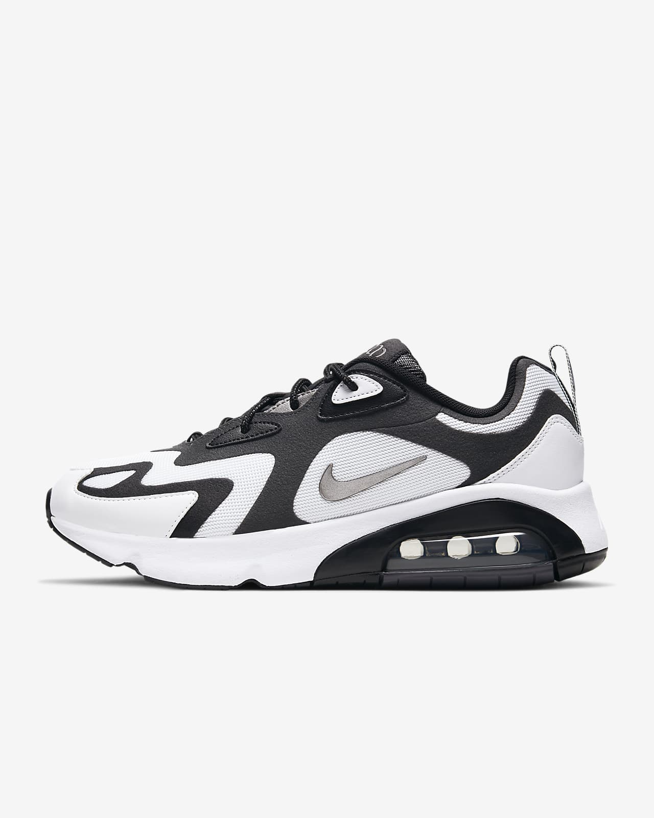 air max 200 blancas y negras