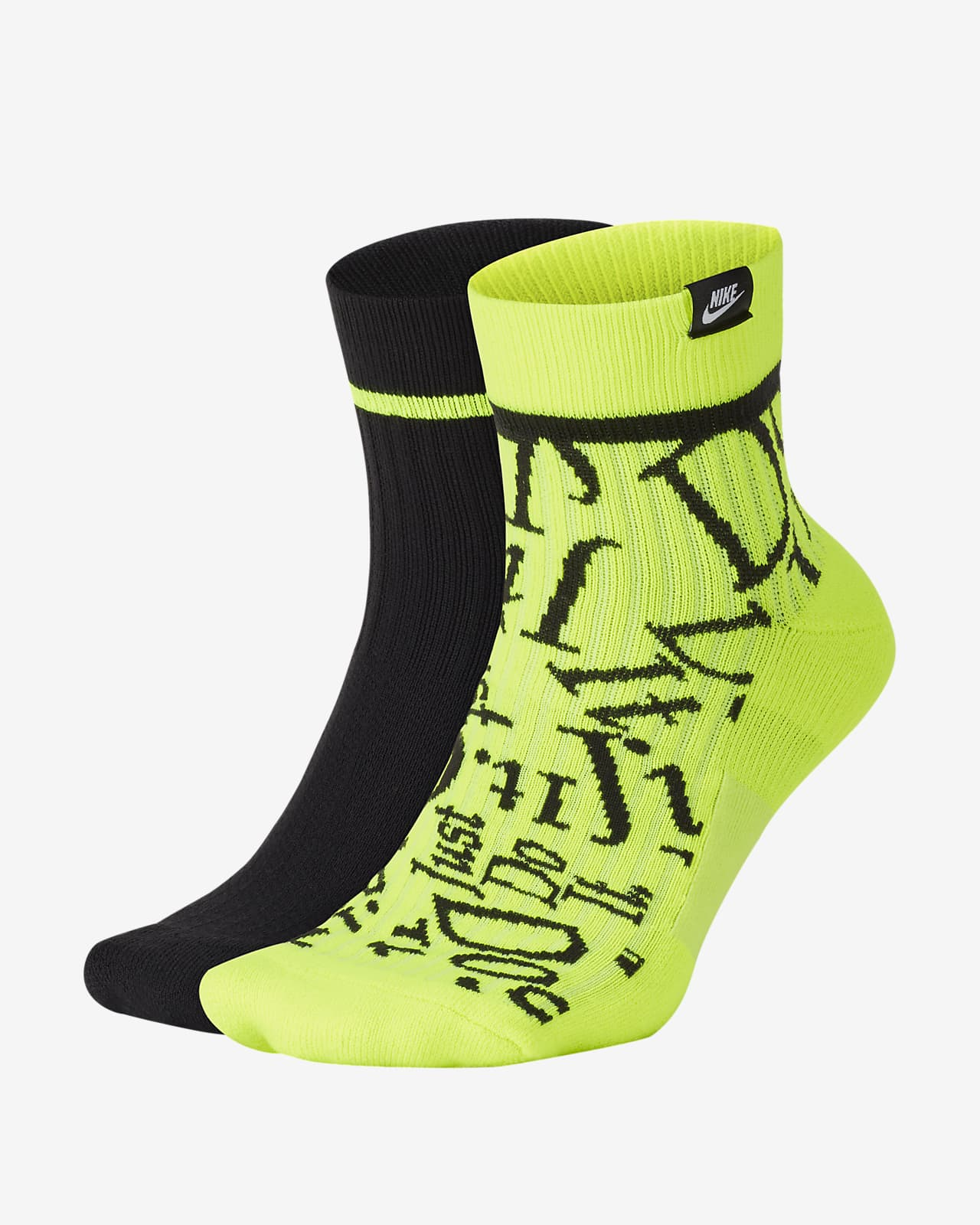 Nike SNEAKR Sox JDI Ankle Socks (2 Pairs)