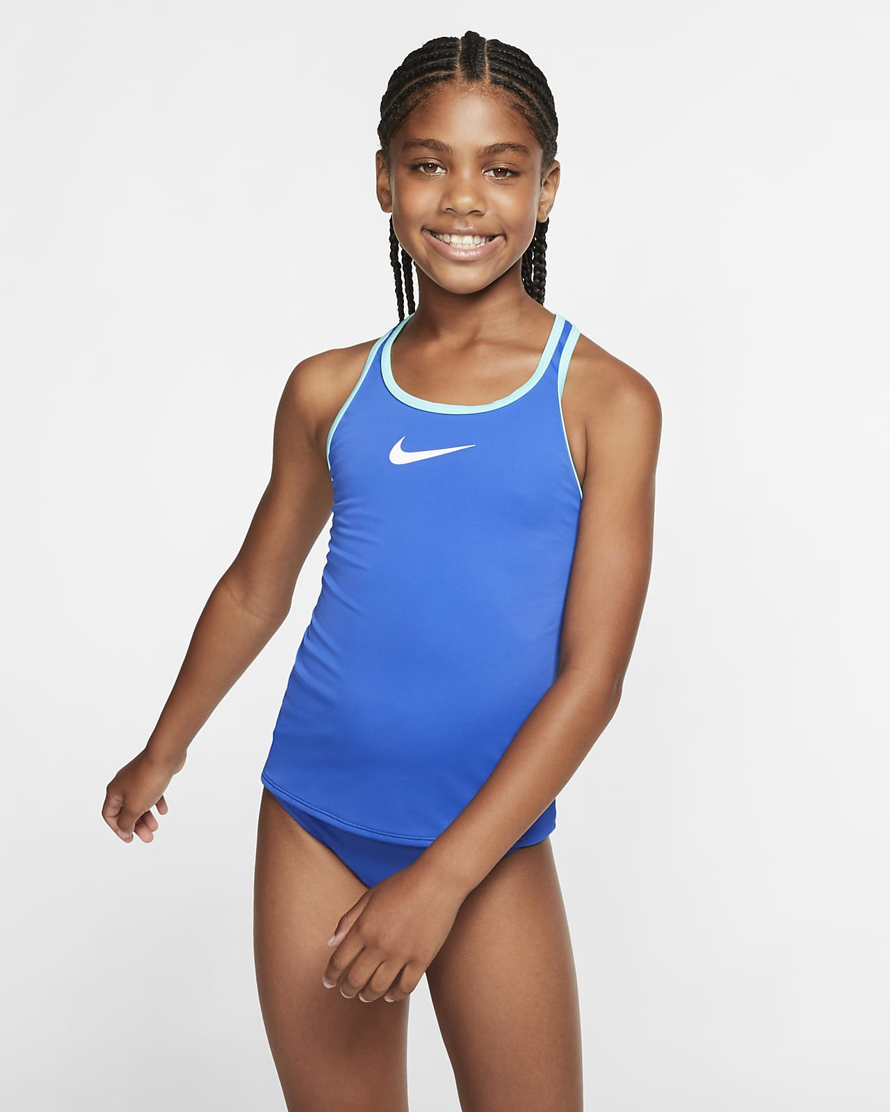 Nike Essential Big Kids' (Girls') Racerback Tankini Set Swimsuit
