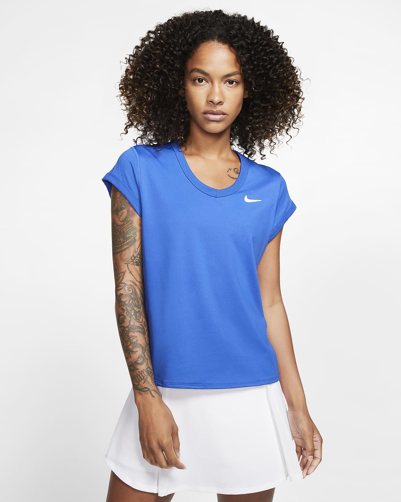 NikeCourt Dri-FIT Kurzarm-Tennisoberteil für Damen