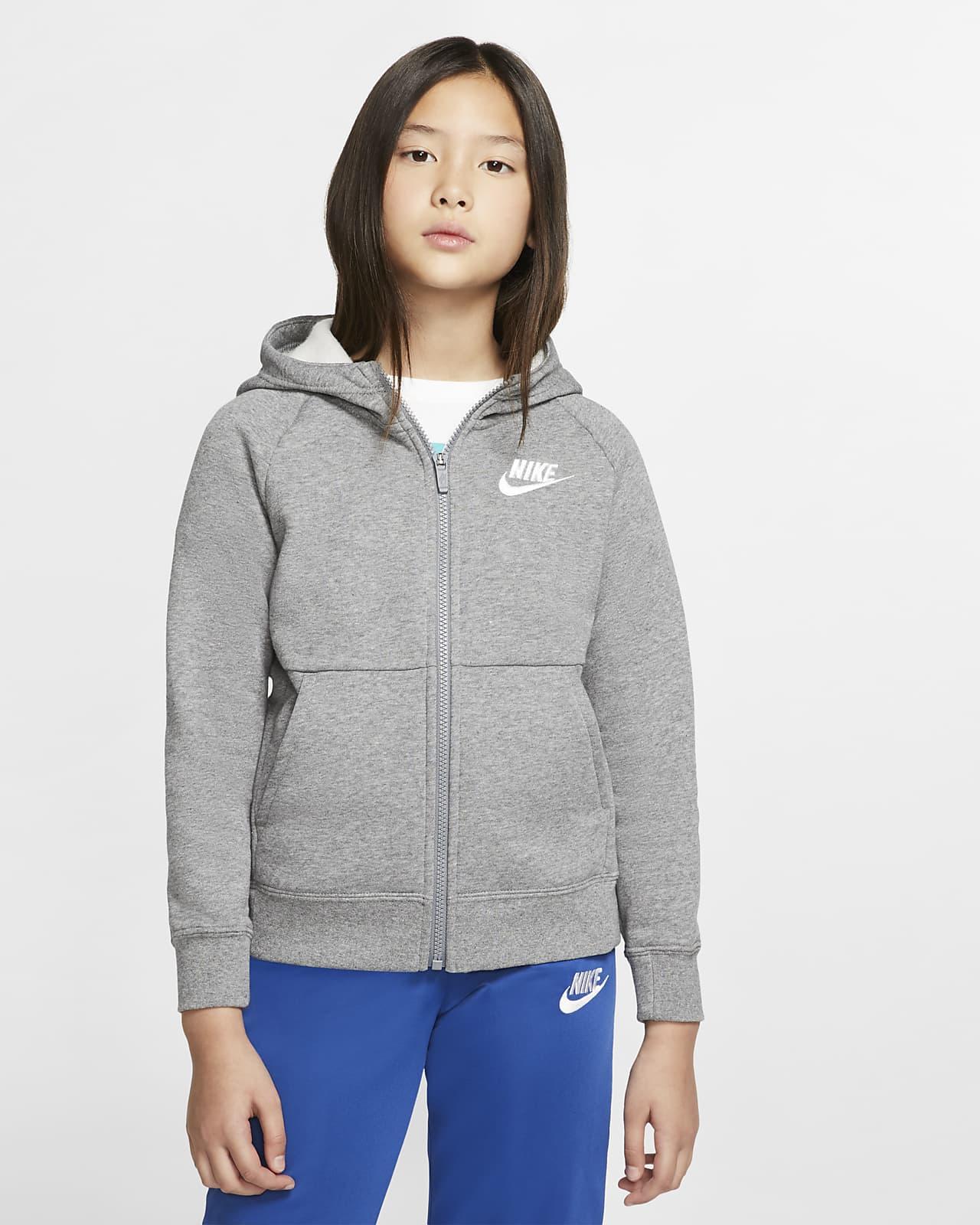 Nike Sportswear Mädchen-Hoodie mit durchgehendem Reißverschluss