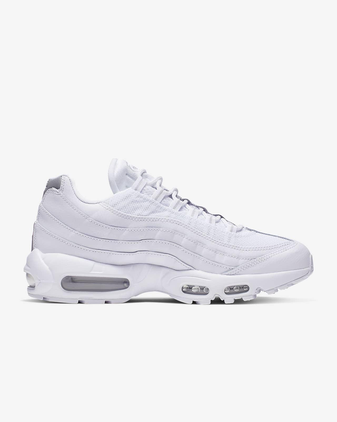 nike air max 95 essential chaussures de running mixte adulte blanc