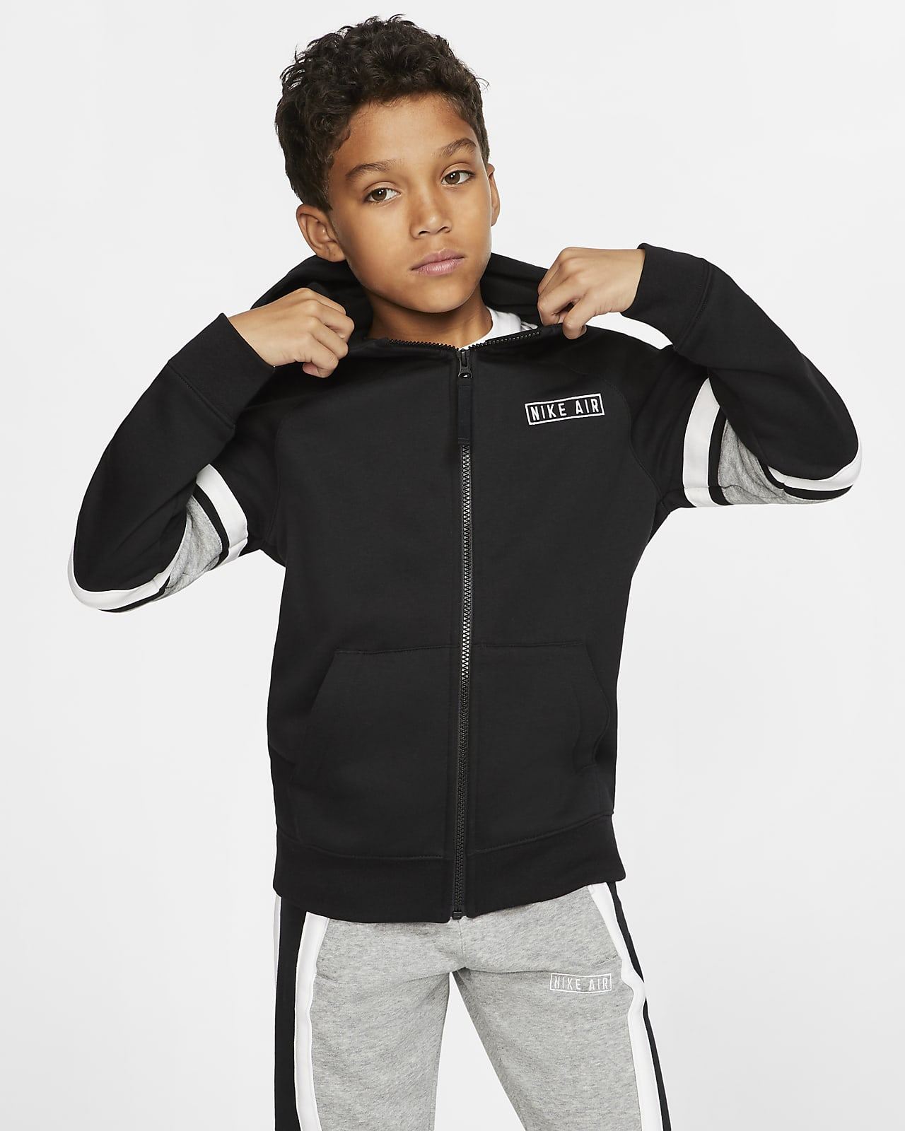 Nike Air Hoodie mit durchgehendem Reißverschluss für ältere Kinder (Jungen)