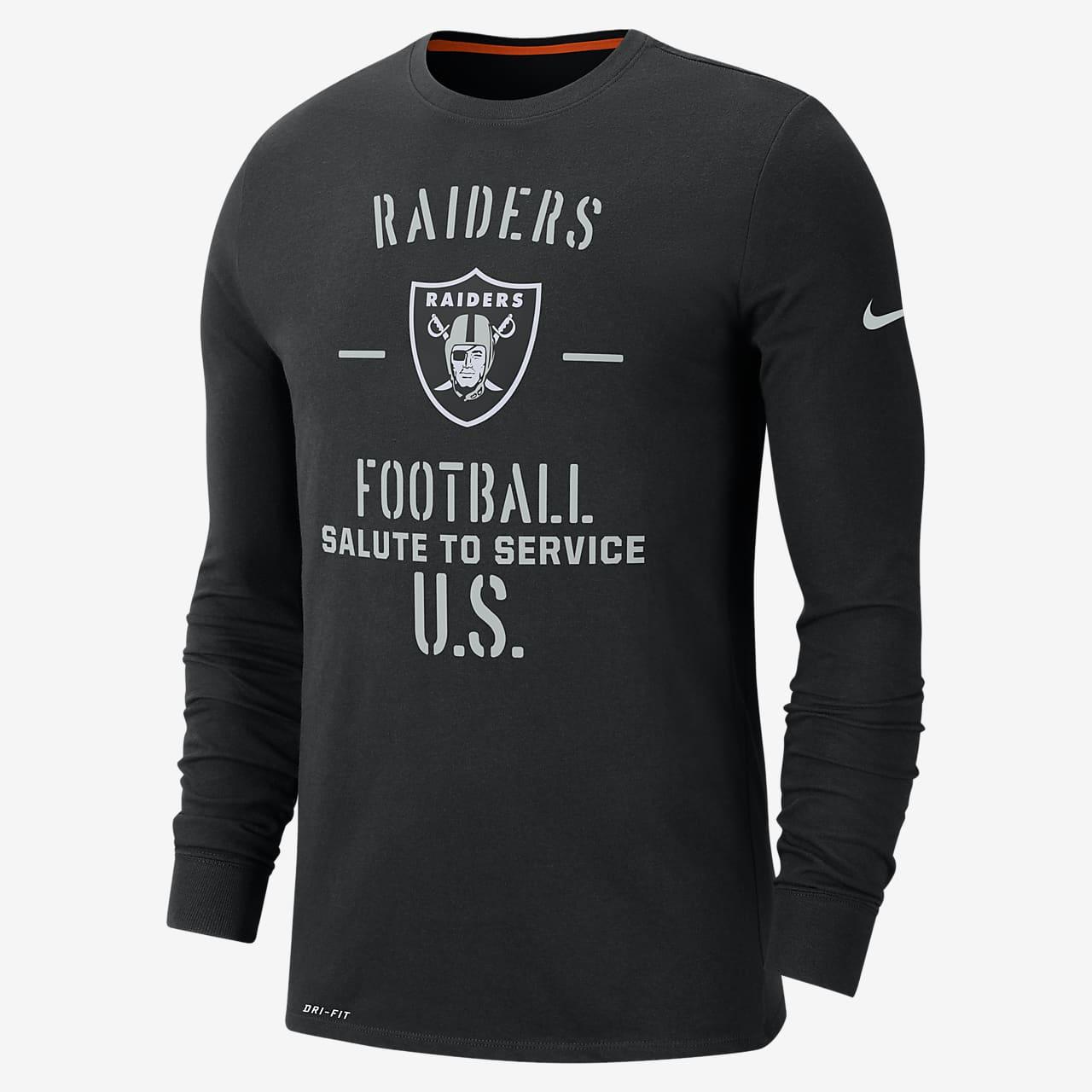 amoroso Speziato Il quarto  Nike Dri-FIT Salute To Service (NFL Raiders) Men's Long-Sleeve T-Shirt. Nike .com