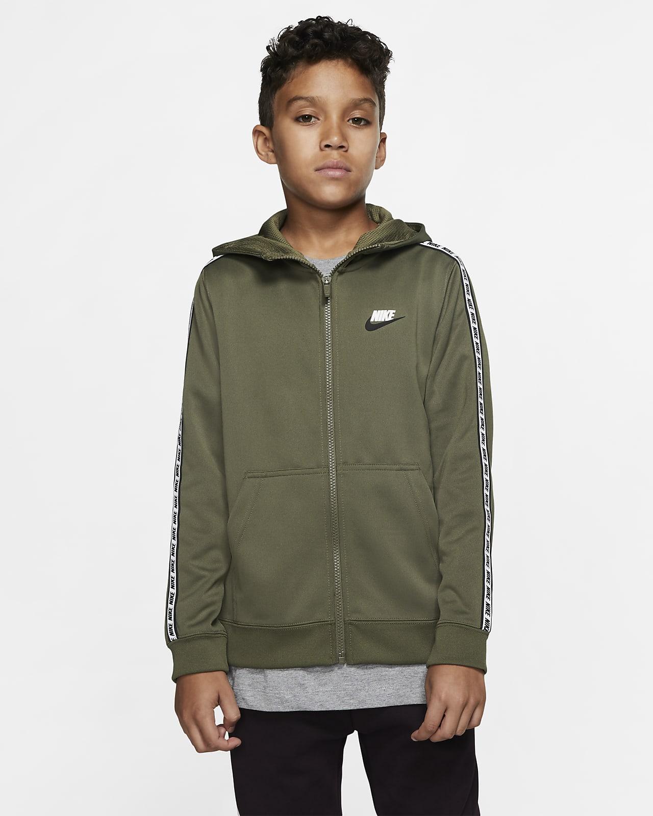 Huvtröja med hel dragkedja Nike Sportswear Club Fleece för