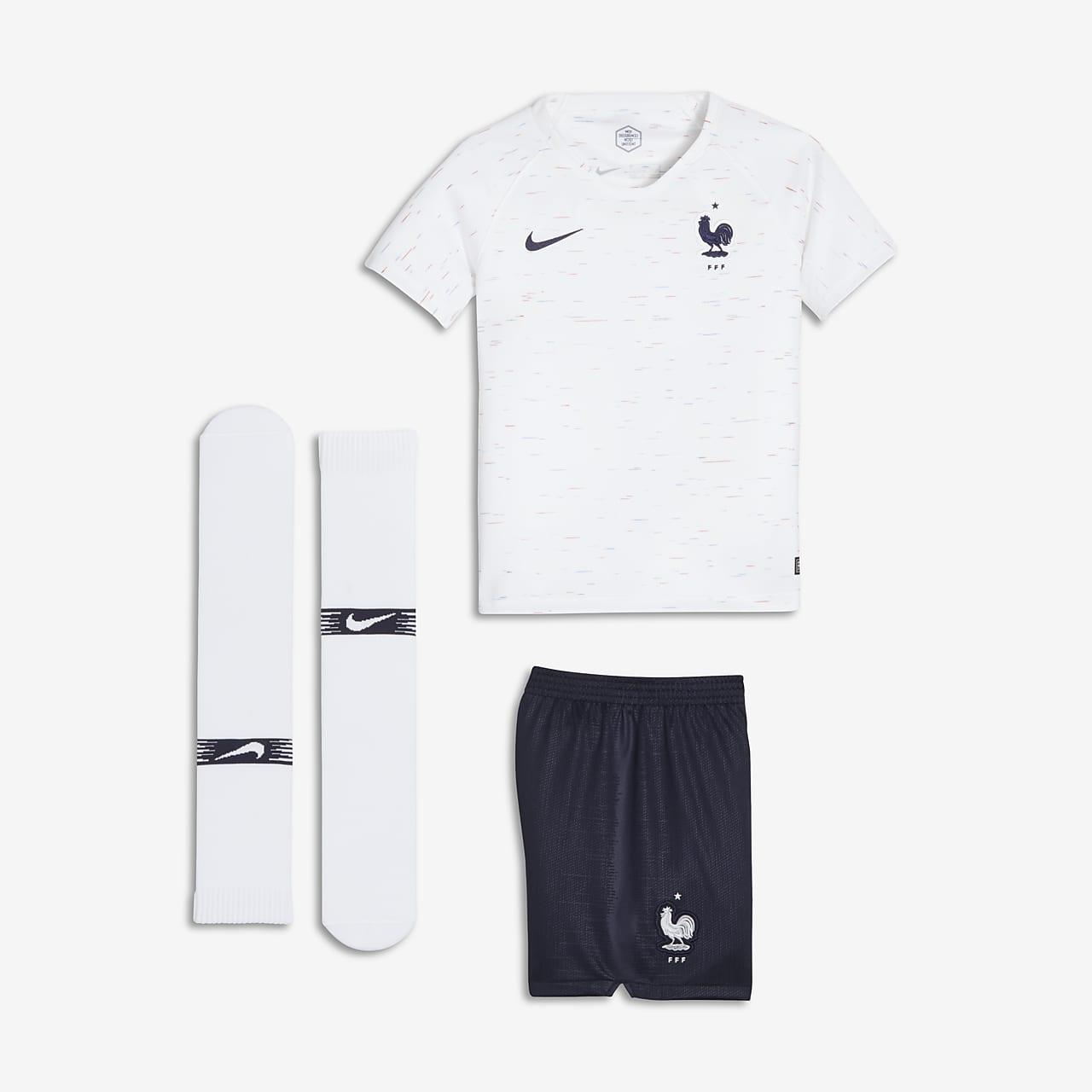 2018 FFF Stadium Away fotballdraktsett til små barn