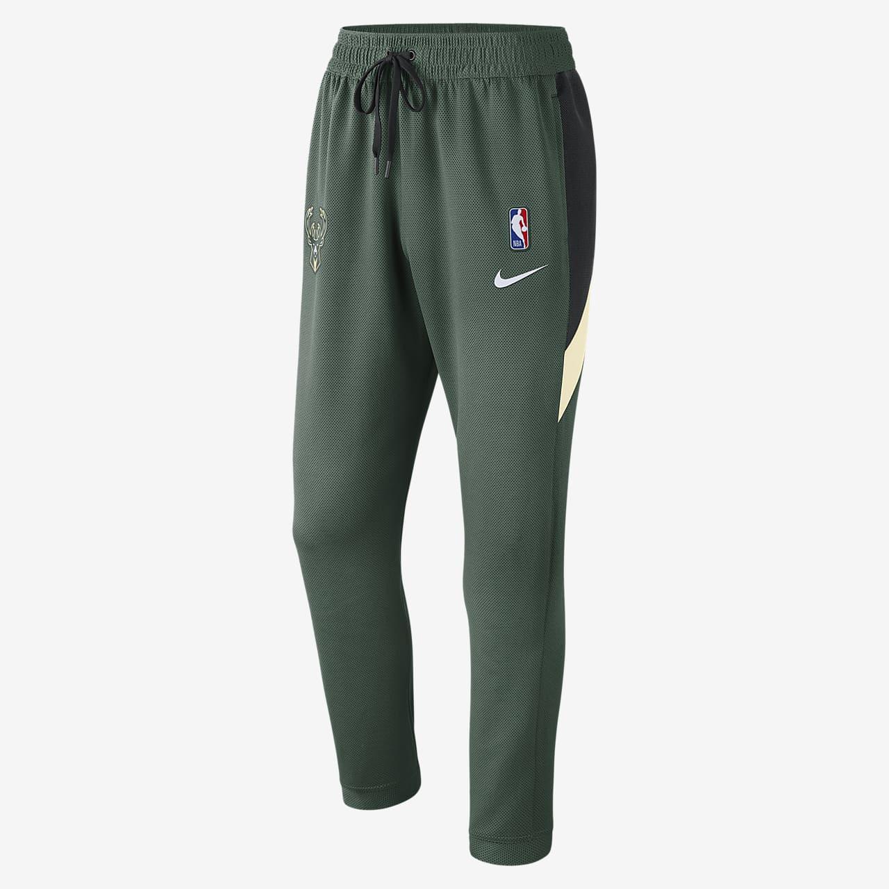 Milwaukee Bucks Nike Therma Flex Showtime Pantalons de l'NBA - Home