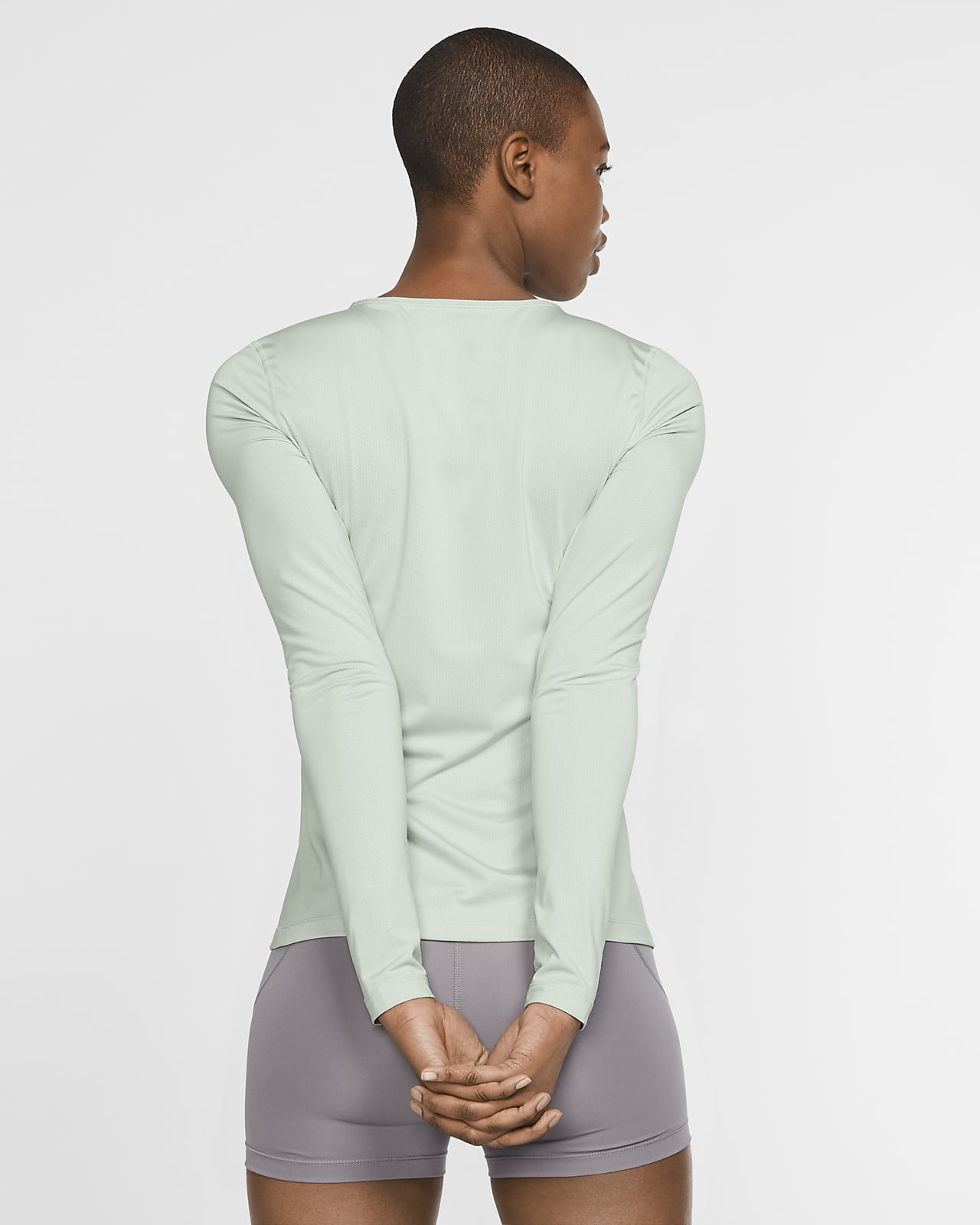 Nike W Pro All Over Mesh t shirt PISTACHIO FROSTWHITE