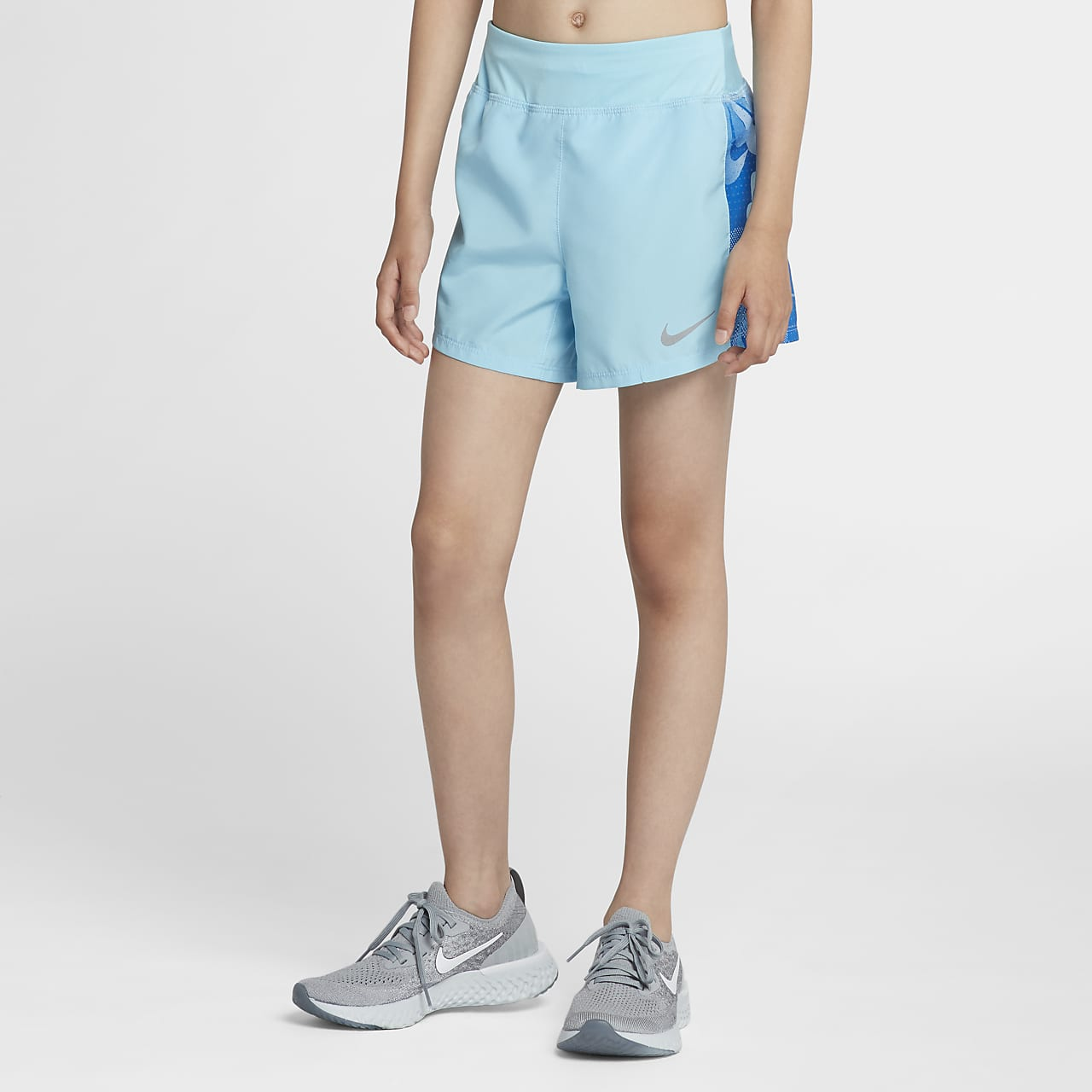 Nike Dri-FIT Older Kids' (Girls') Printed Running Shorts