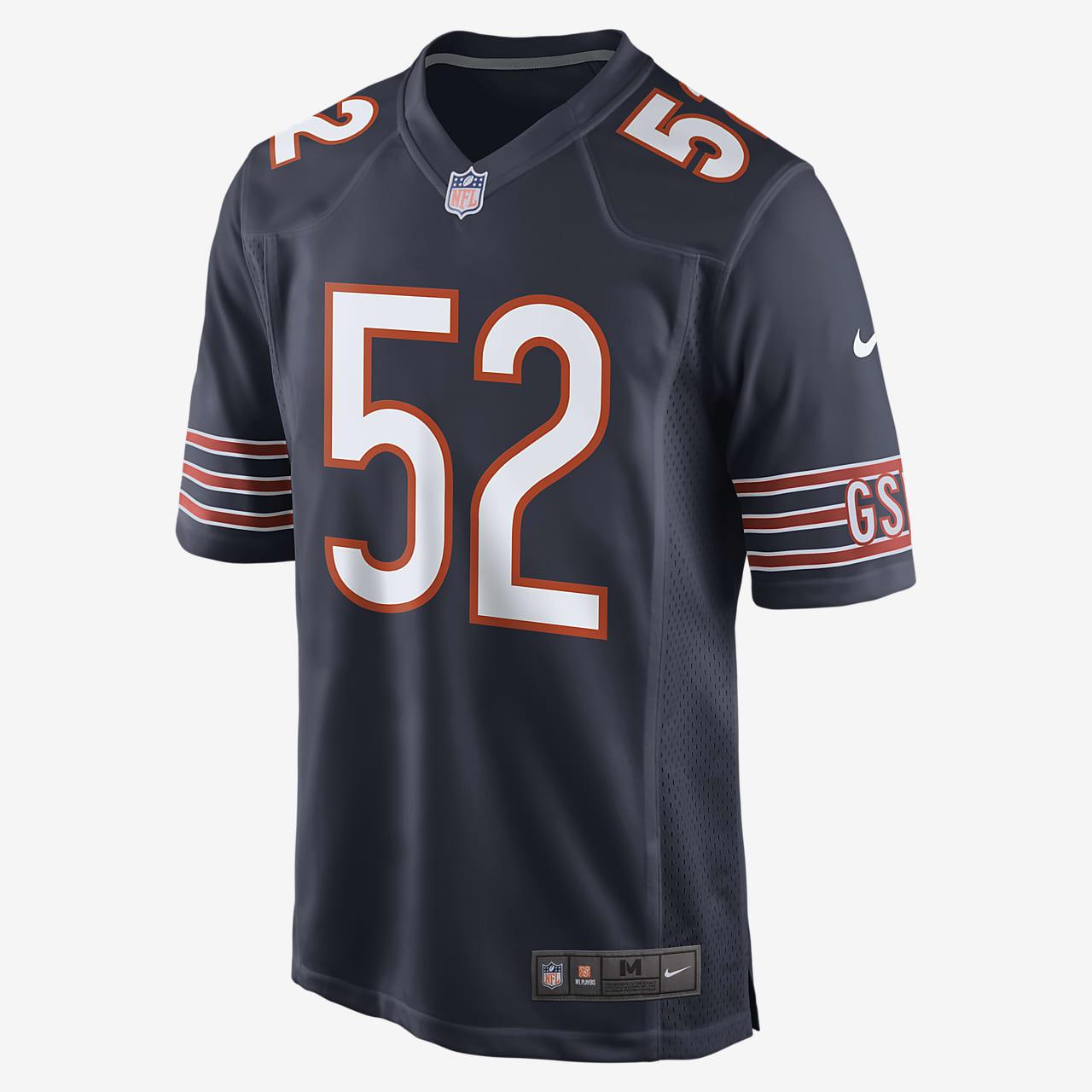NFL Chicago Bears spillerdrakt for amerikansk fotball til herre