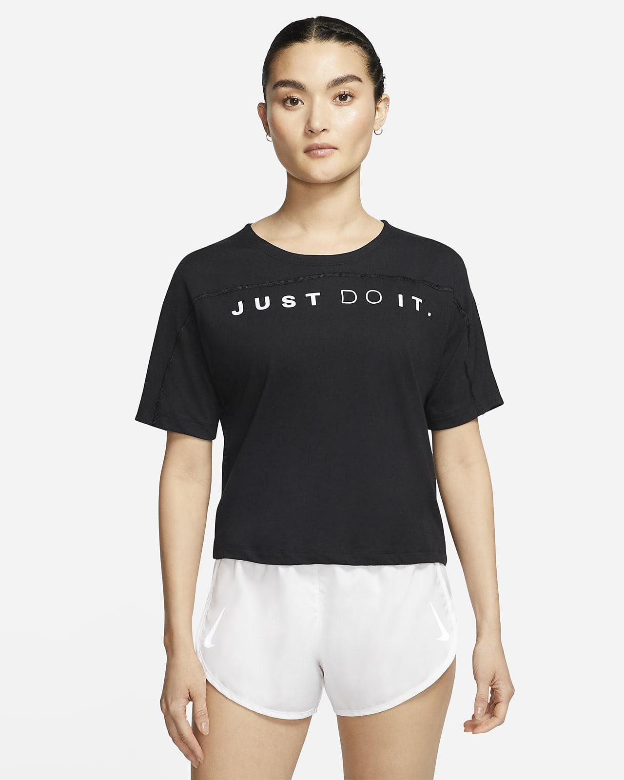 Top da running a manica corta Nike Dri-FIT Miler - Donna