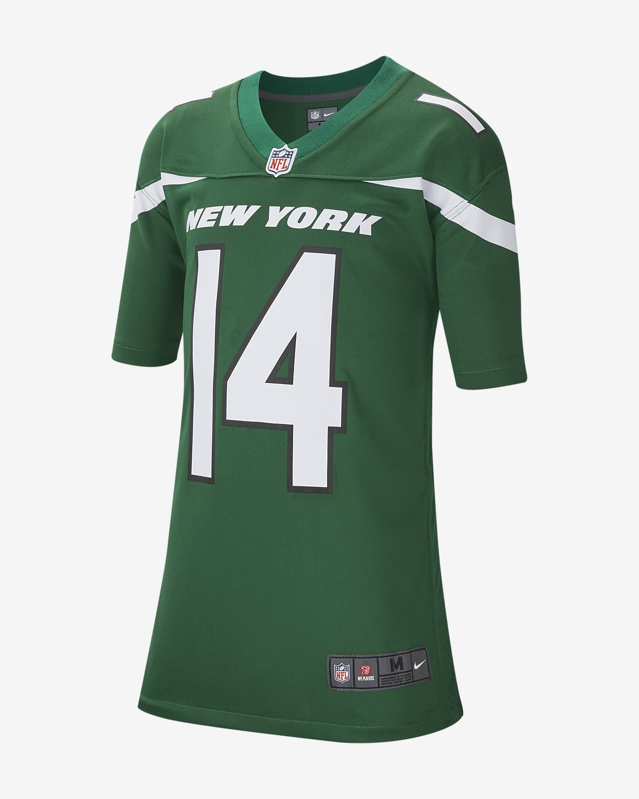 NFL New York Jets (Sam Darnold) Big Kids' Game Football Jersey