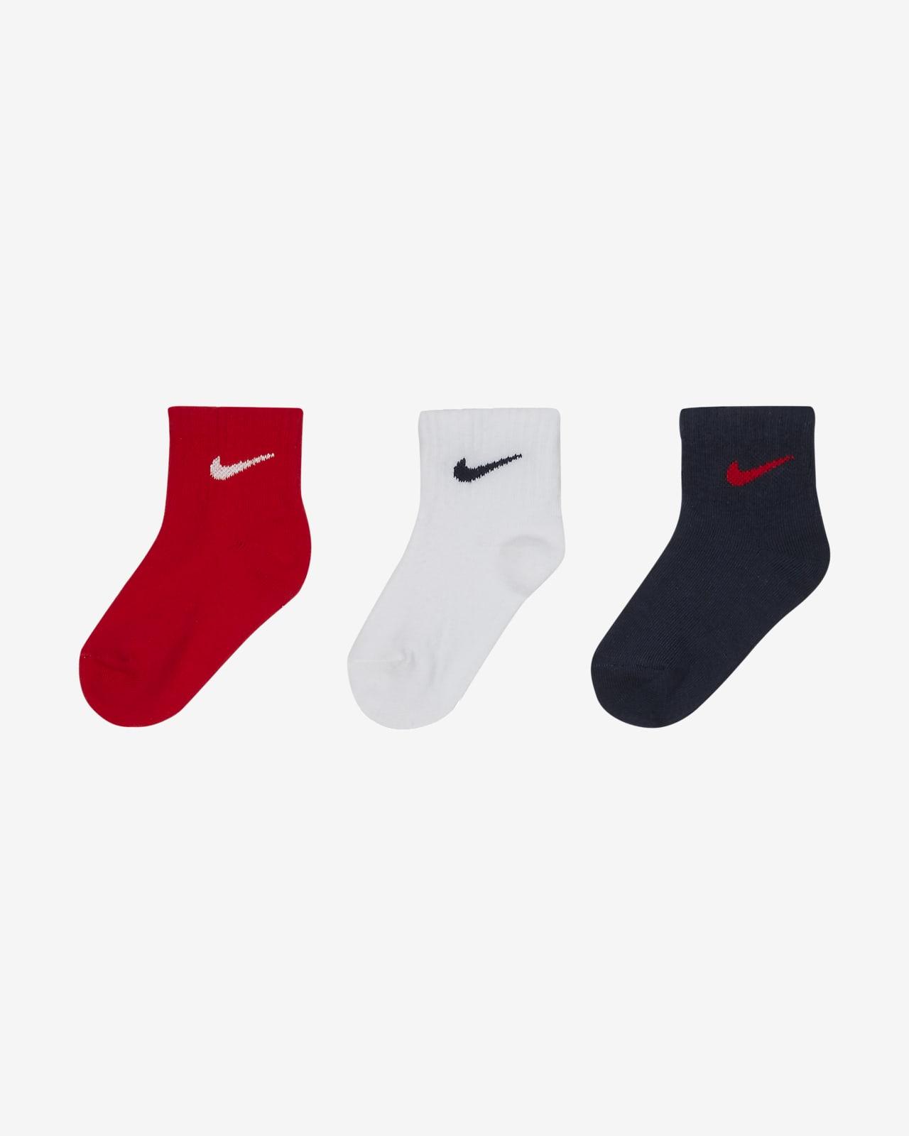 Calcetines hasta el tobillo para niños pequeños Nike (3 pares)