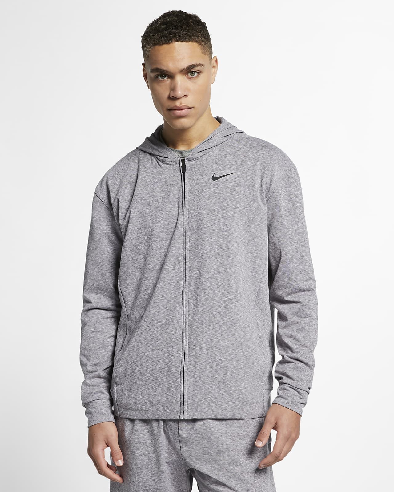 Ανδρική μπλούζα προπόνησης γιόγκα με κουκούλα και φερμουάρ Nike Dri-FIT