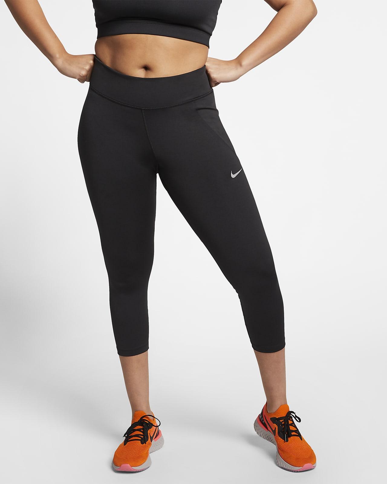 Nike Fast Normal Belli Bilek Üstü Kadın Koşu Taytı (Büyük Beden)