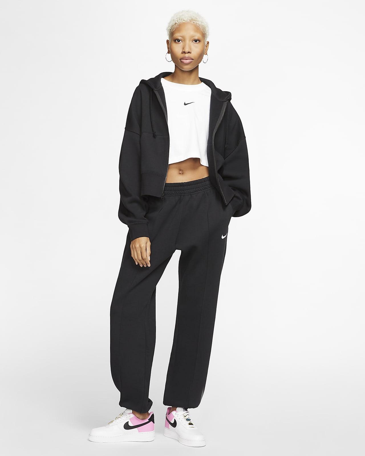 Nike Sportswear Essential Fleecehoodie met rits voor dames