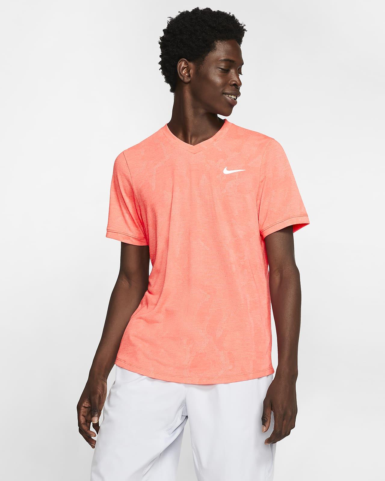 Kortärmad tenniströja NikeCourt Dri-FIT Challenger för män