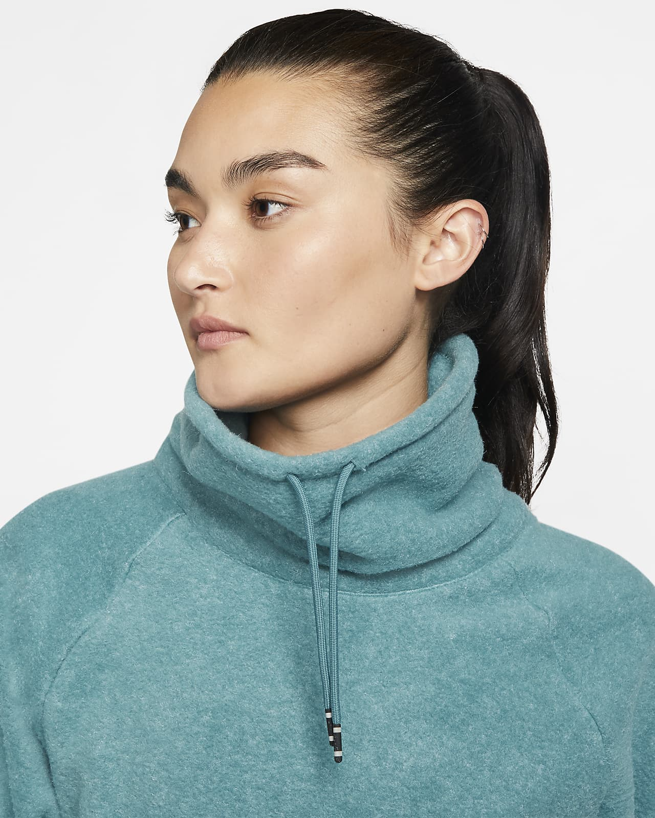 Långärmad träningströja i fleece Nike Therma för kvinnor