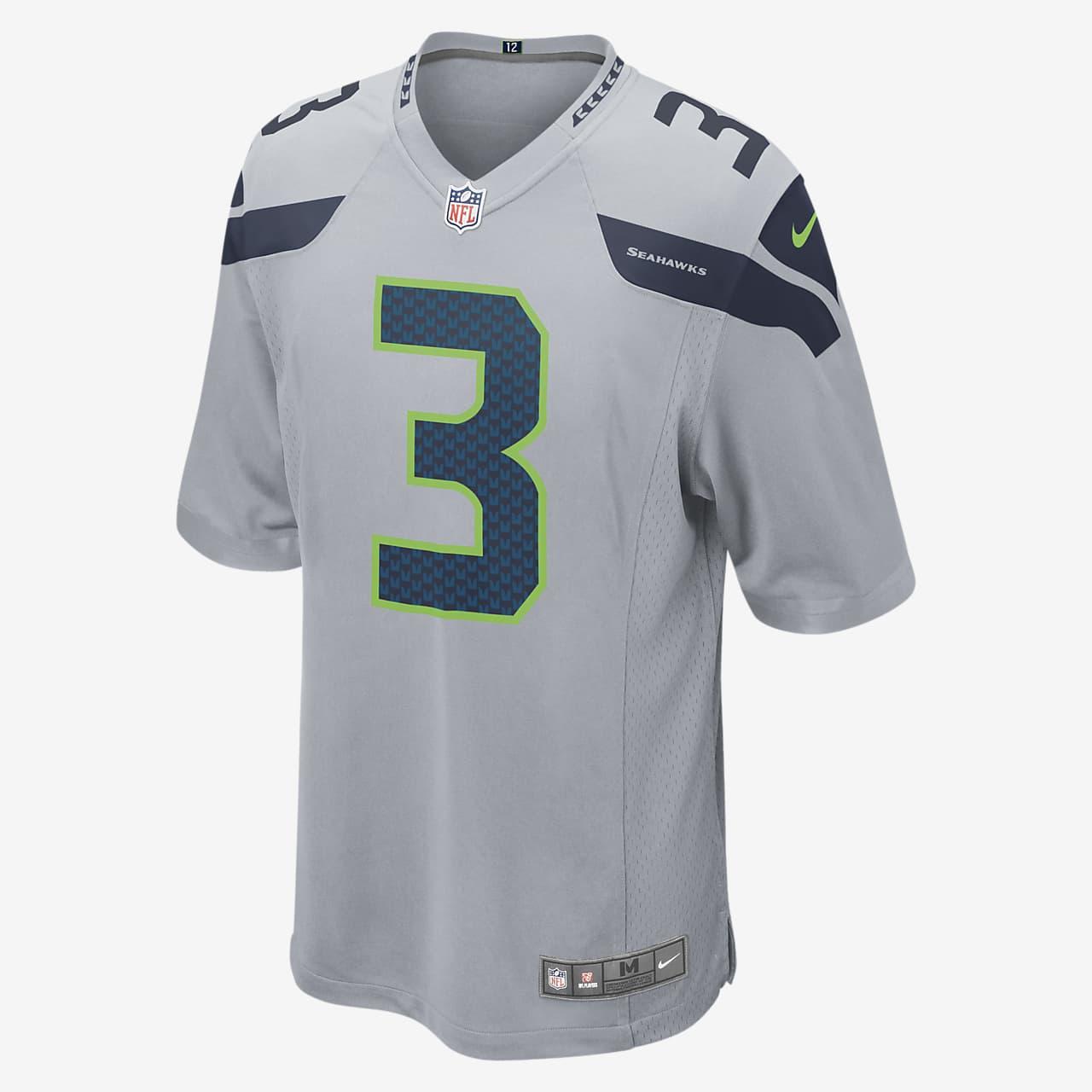 NFL Seattle Seahawks (Russell Wilson) Men's Game Football Jersey