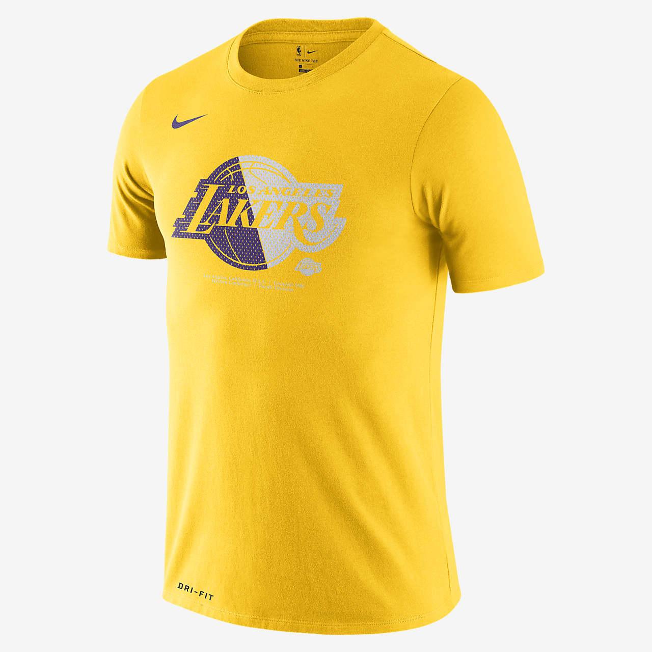 Los Angeles Lakers Nike Dri-FIT-NBA-T-shirt til mænd