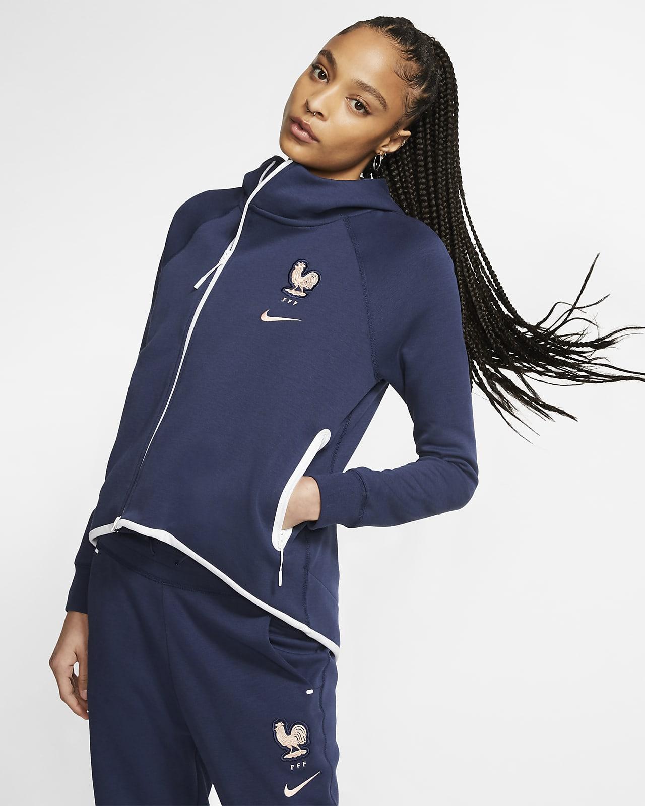 Veste style cape de football FFF Tech Fleece pour Femme