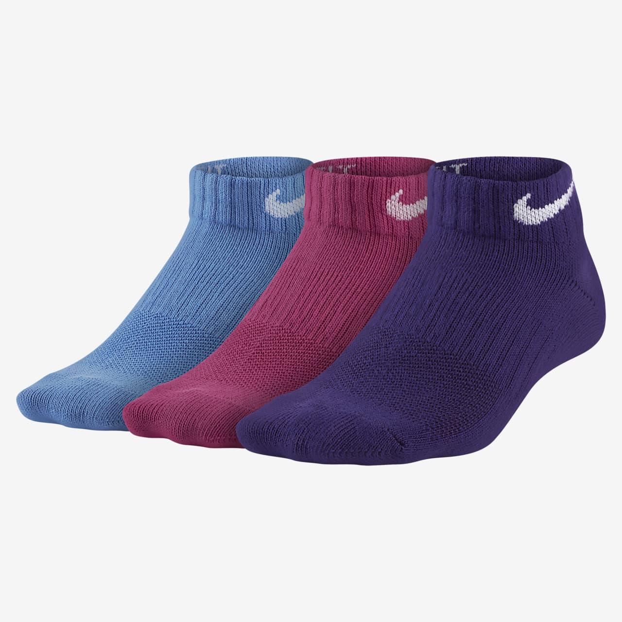 ถุงเท้าเด็กโตแบบซ่อนน้ำหนักเบา Nike Everyday (3 คู่)