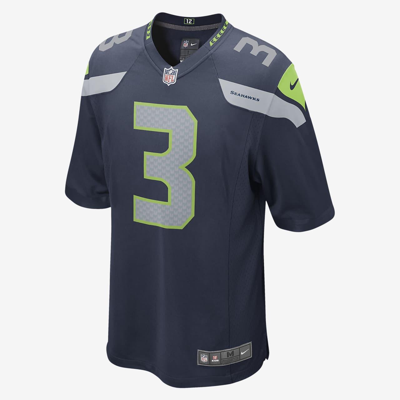NFL Seattle Seahawks (Russell Wilson) American football-thuiswedstrijdjersey heren
