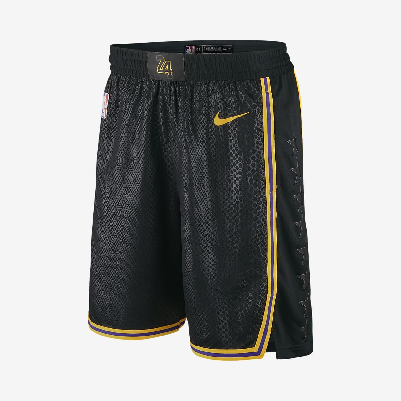 Los Angeles Lakers Nike City Edition Swingman Men's NBA Shorts