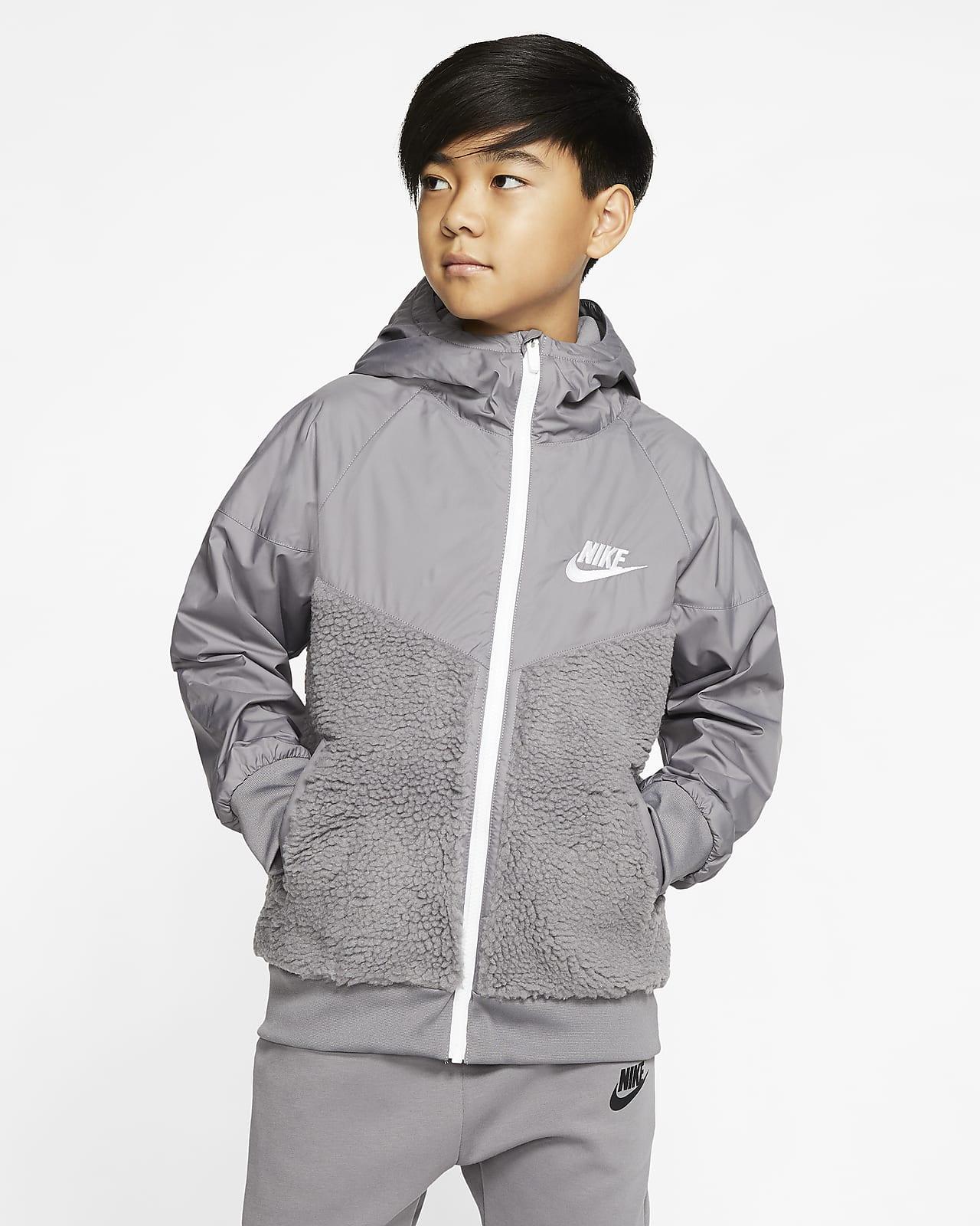 Nike Sportswear Windrunner Sherpa Jacke für ältere Kinder (Jungen)