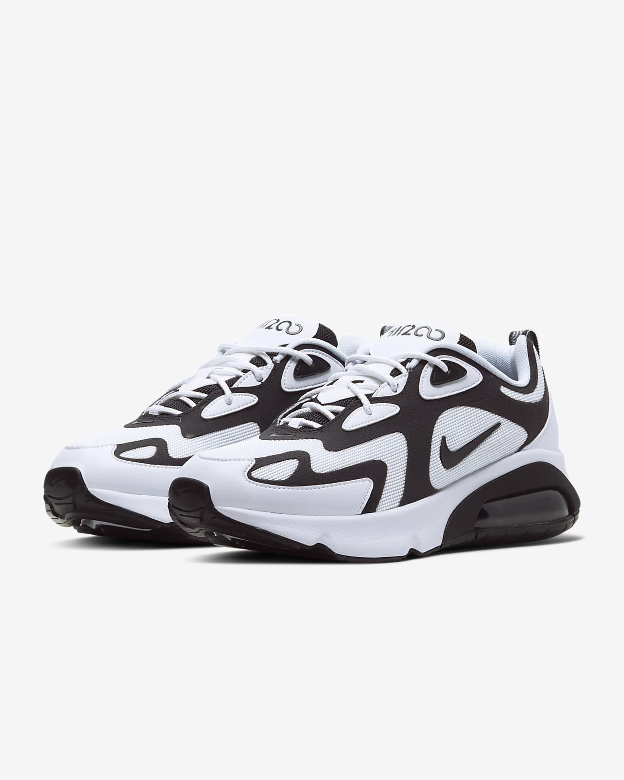 nike zapatos blanco y negro