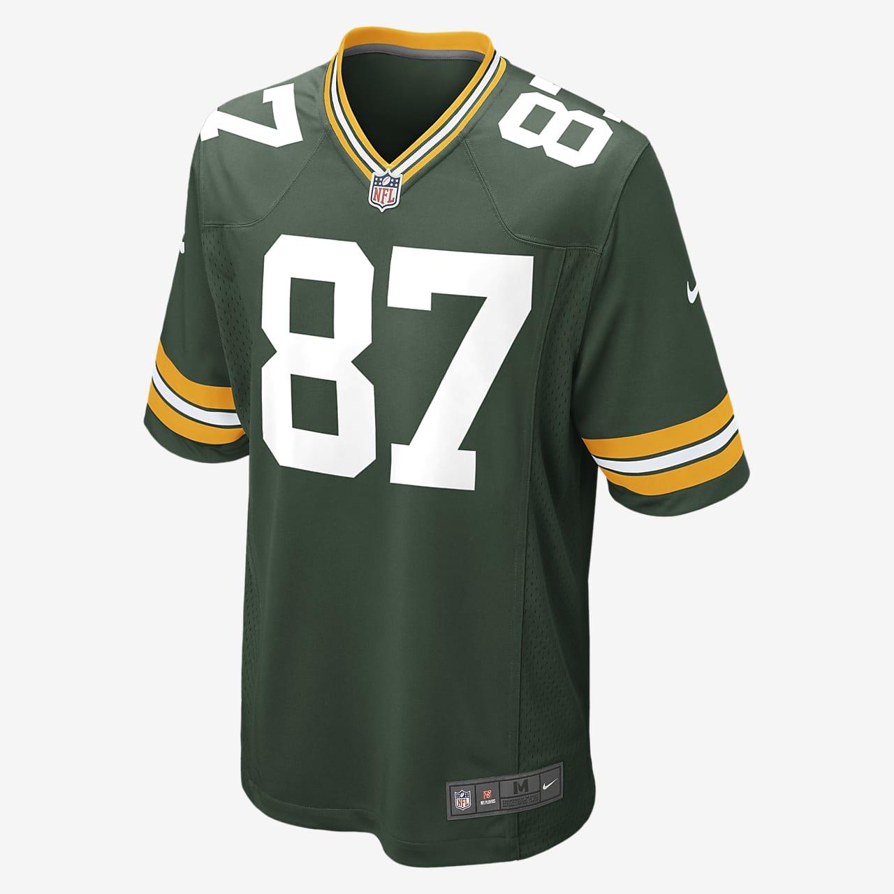 Maillot de football américain domicile NFL Green Bay Packers (Jordy Nelson) pour Homme