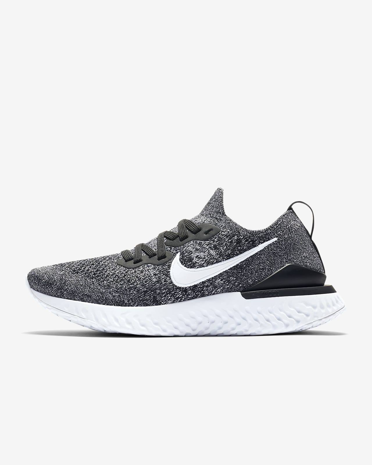 nike running epic react flyknit trainers in triple white