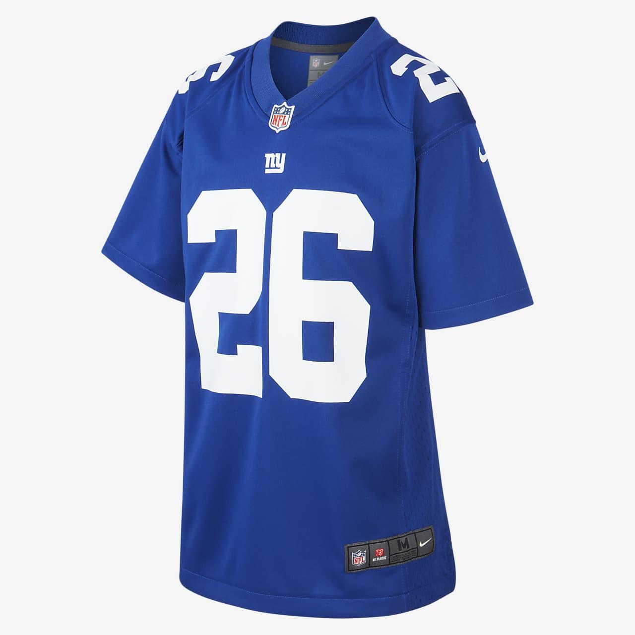 NFL New York Giants Game Jersey (Saquon Barkley) Older Kids' American Football Jersey
