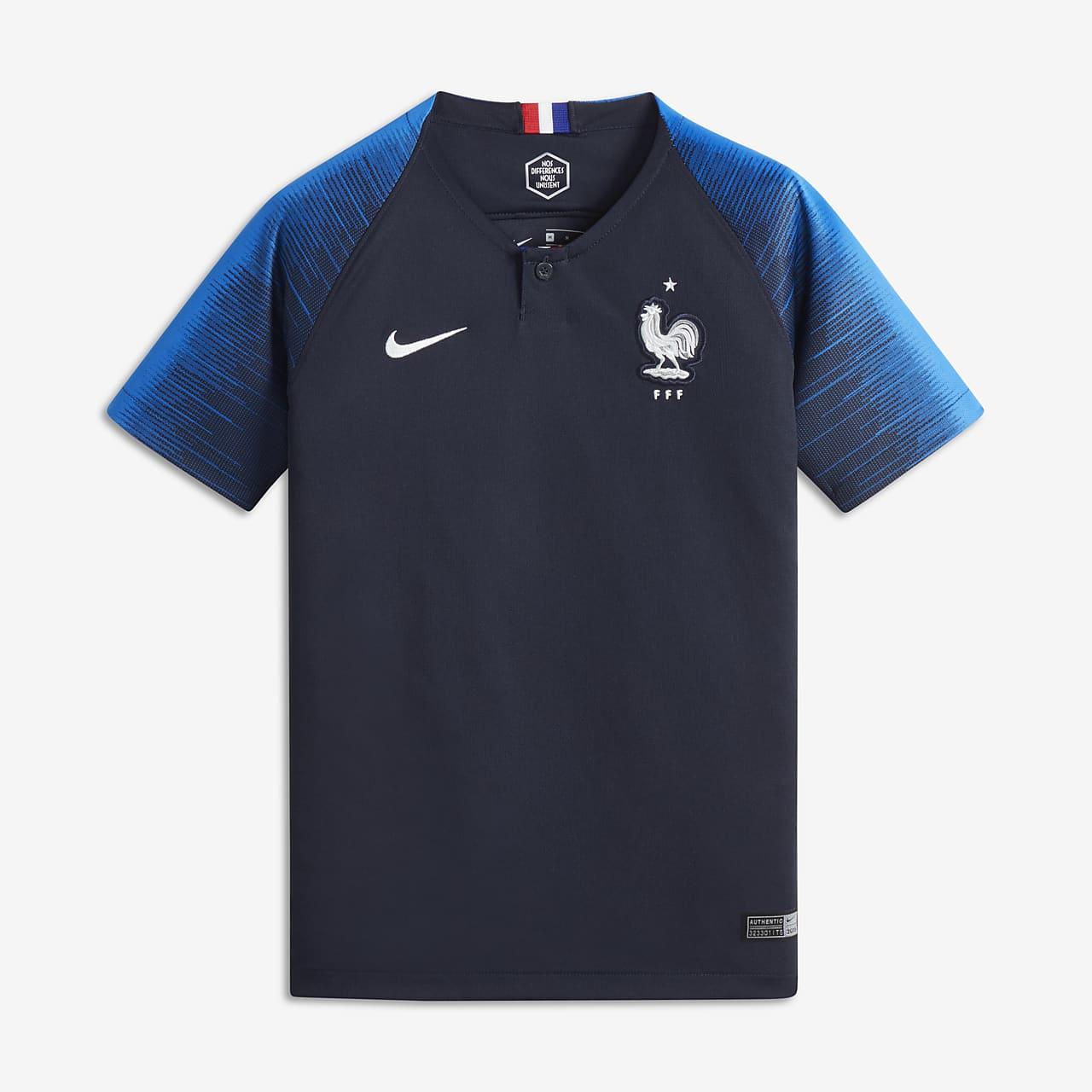 2018 FFF Stadium Home Older Kids' Football Shirt