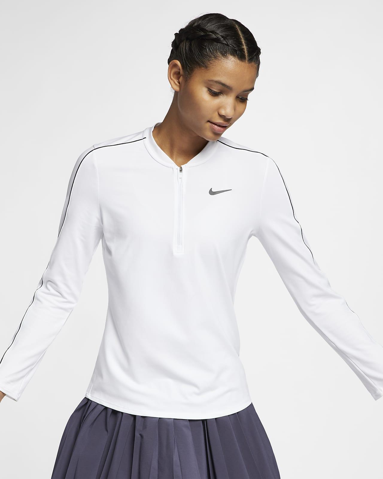 NikeCourt Dri-FIT Women's 1/2-Zip Long-Sleeve Tennis Top