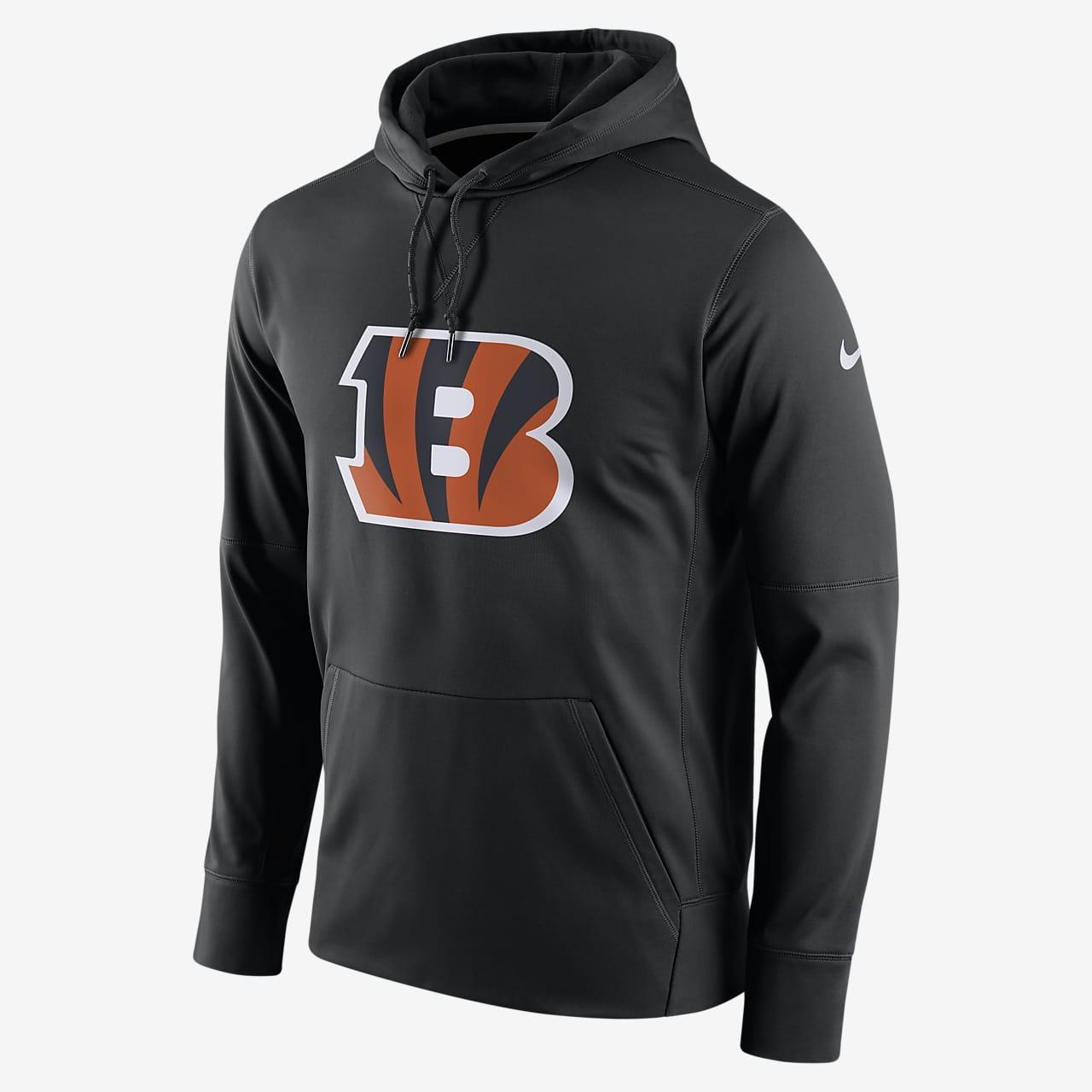 Ανδρική μπλούζα με κουκούλα και λογότυπο Nike Essential (NFL Bengals)