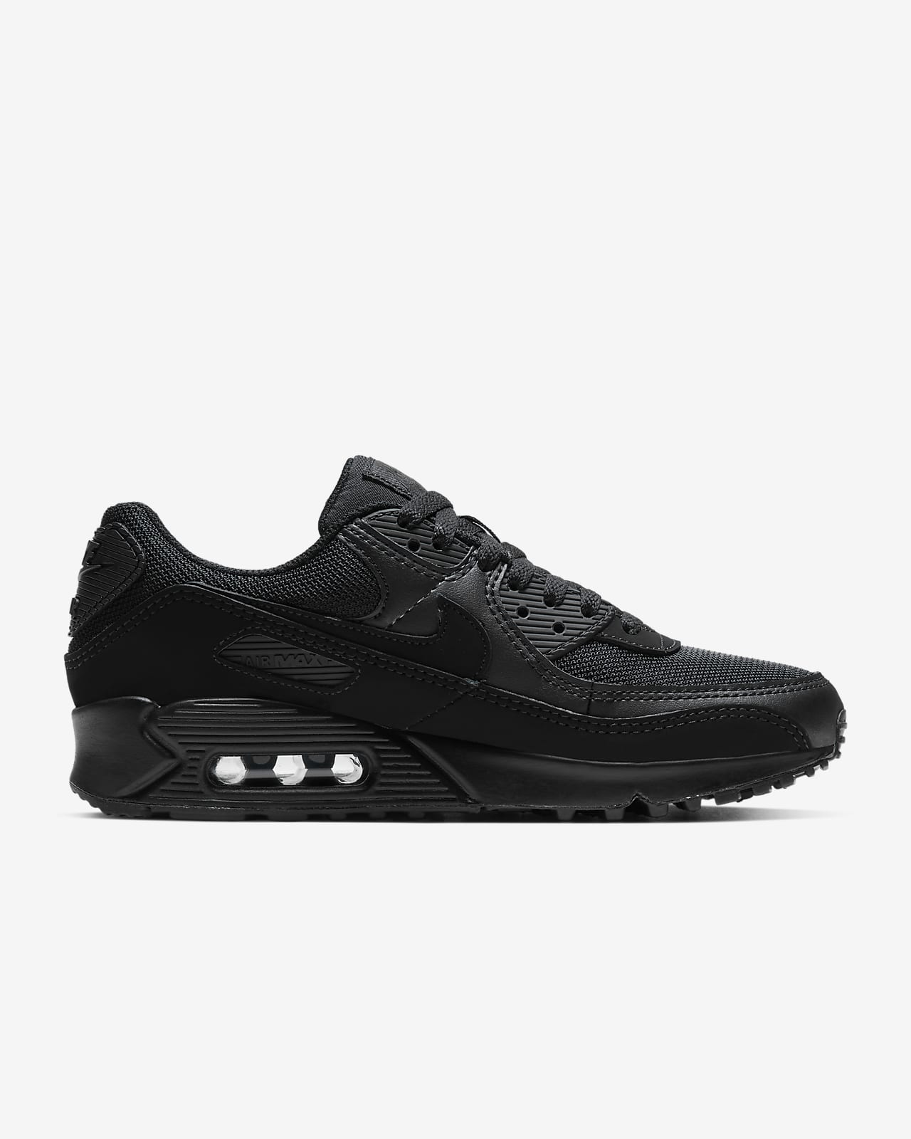 Nike Air Max 90 Vt Men All Black Running Shoes Portugal For