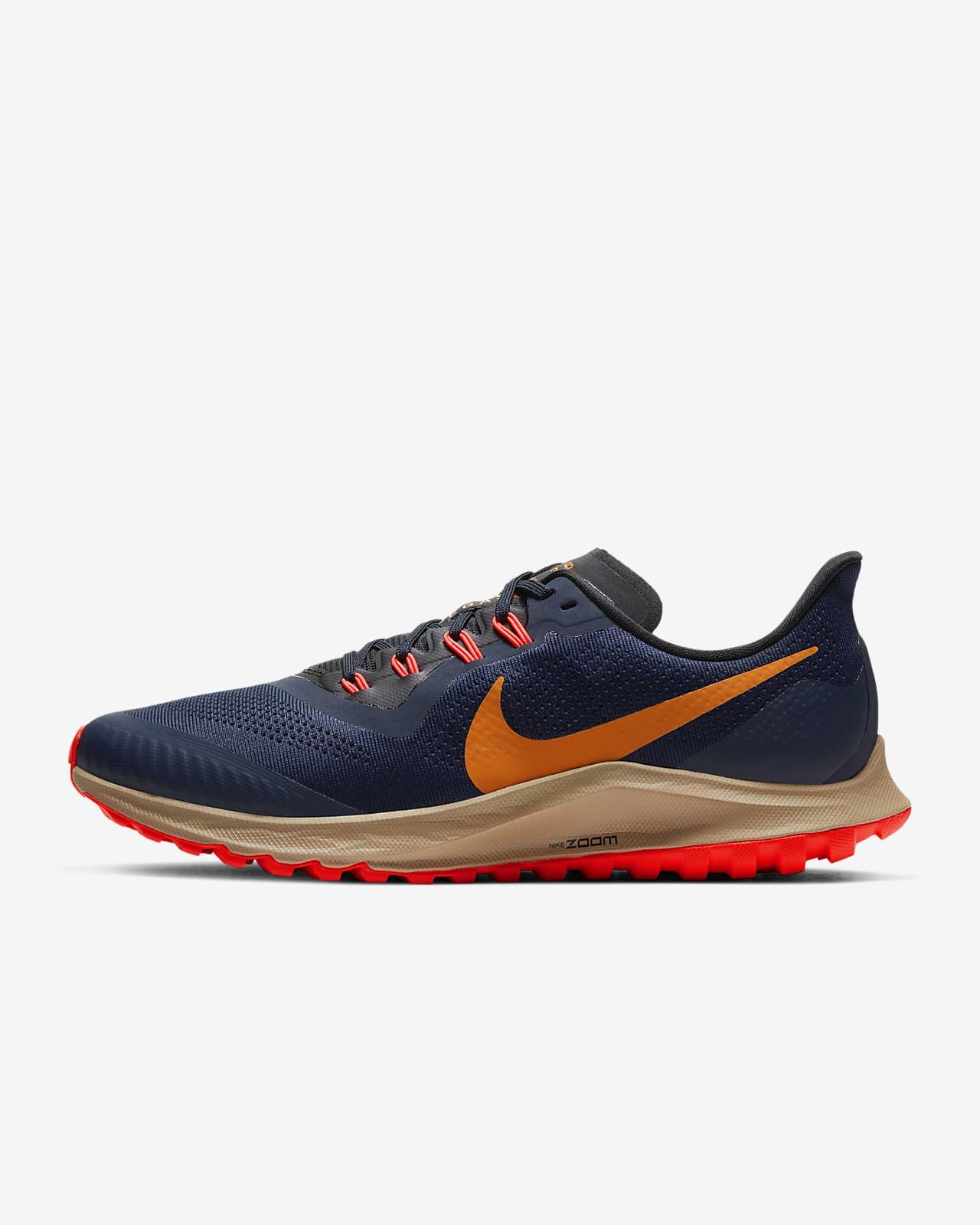 nike mens blue and orange revolution 14