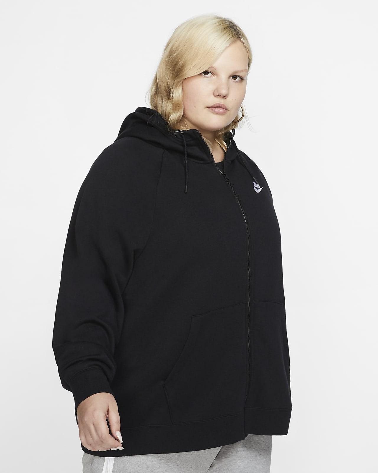 Nike Sportswear Essential Sudadera con capucha con cremallera completa (Talla grande) - Mujer