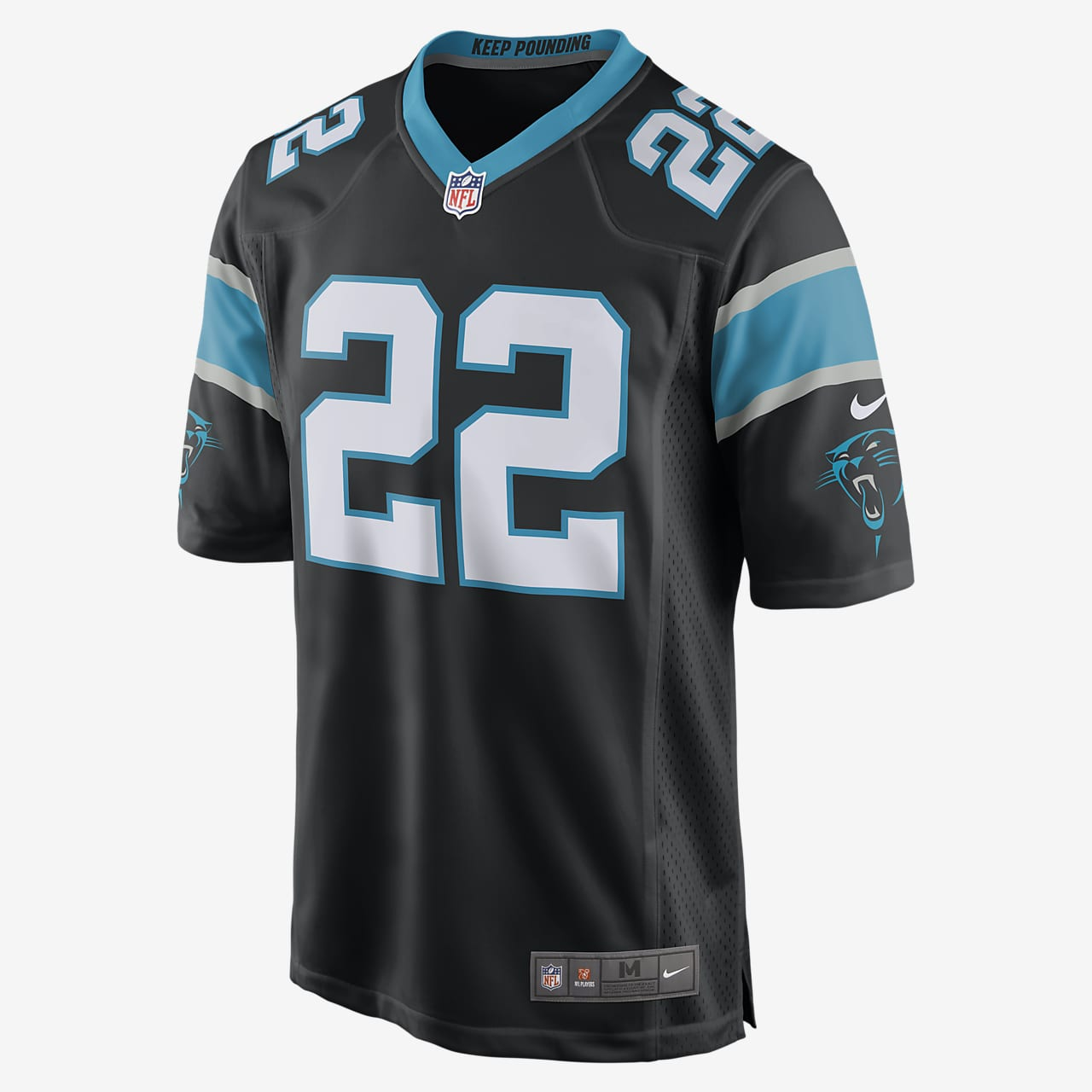 NFL Carolina Panthers (McCaffrey) American football-wedstrijdjersey voor heren