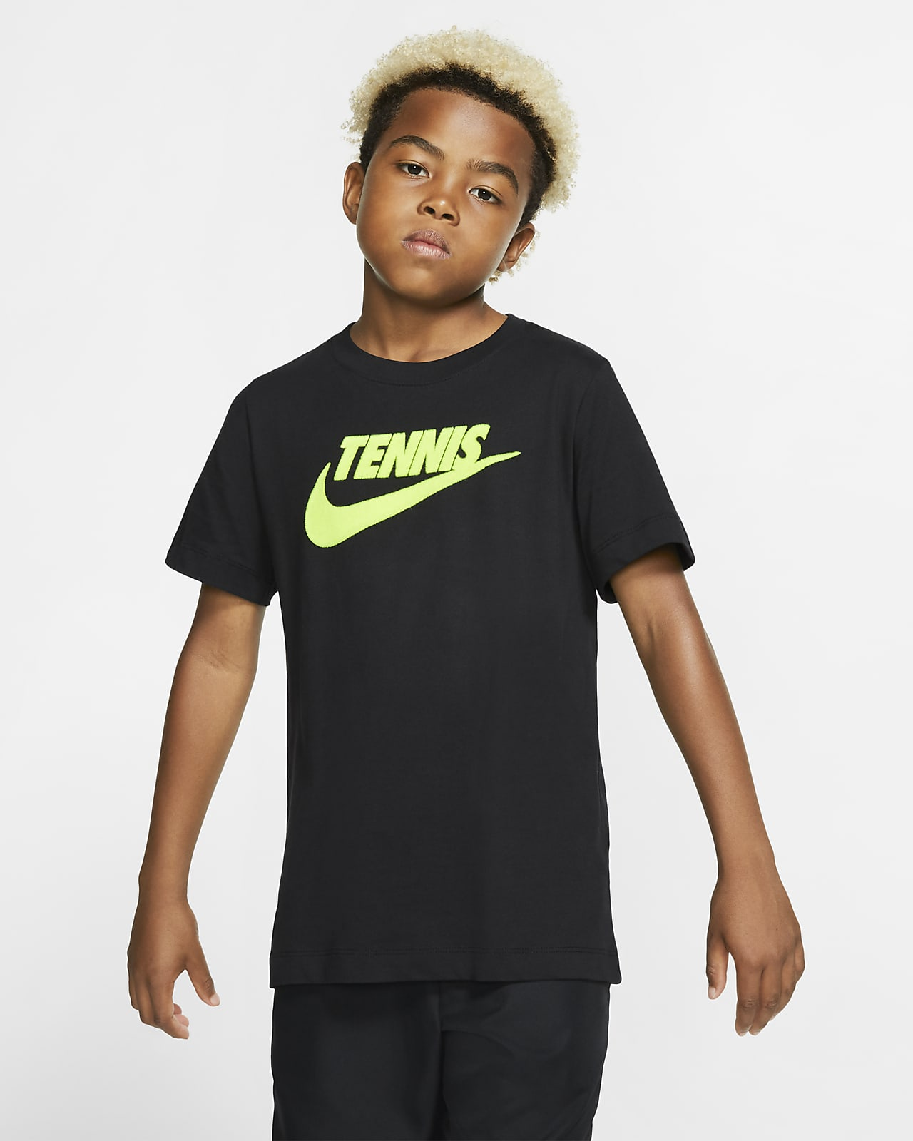 NikeCourt Dri-FIT Big Kids (Boys') Graphic Tennis T-Shirt