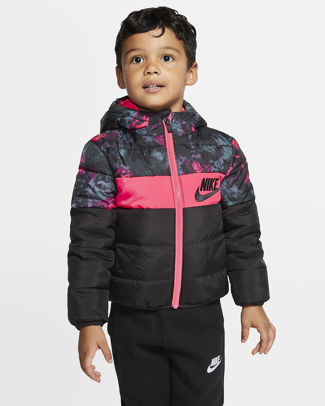 Nike Sportswear Puffer Jacke mit durchgehendem Reißverschluss für Kleinkinder