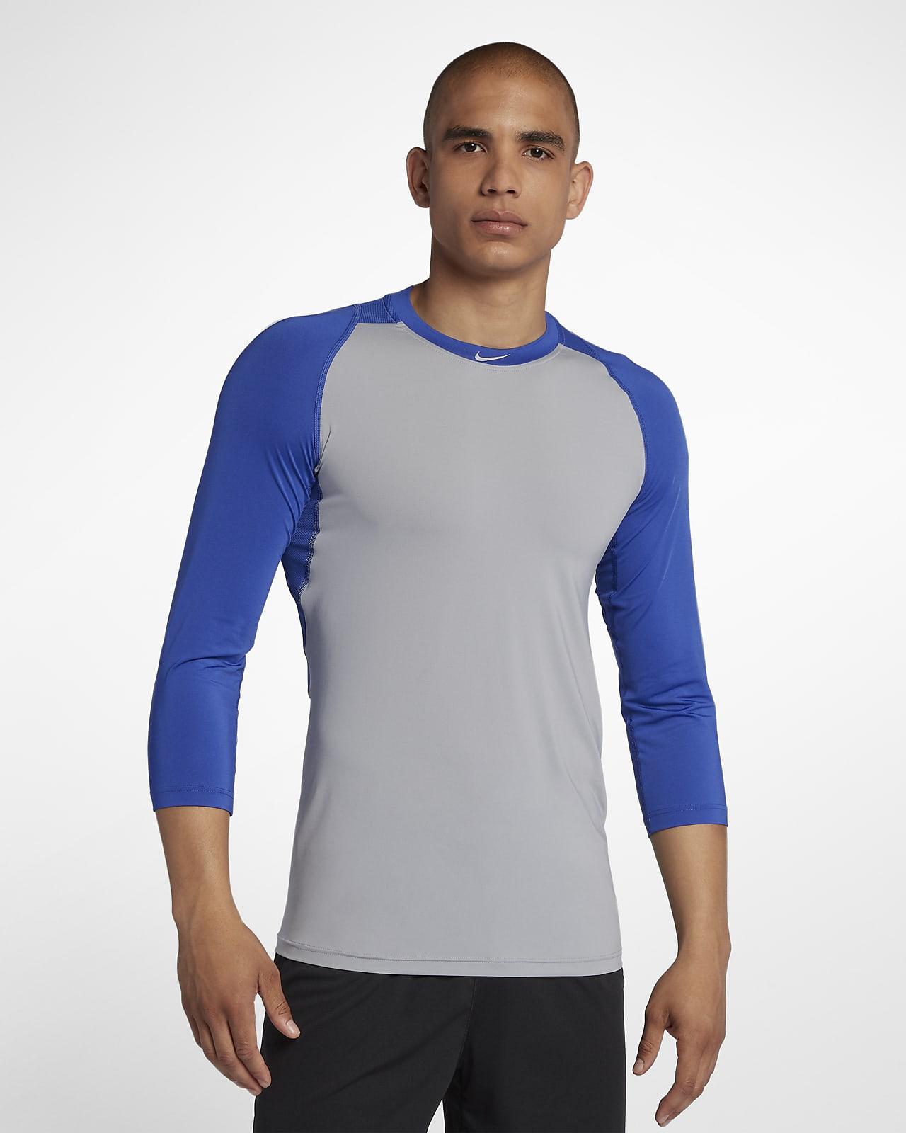 Nike Pro Men's 3/4 Sleeve Baseball Top